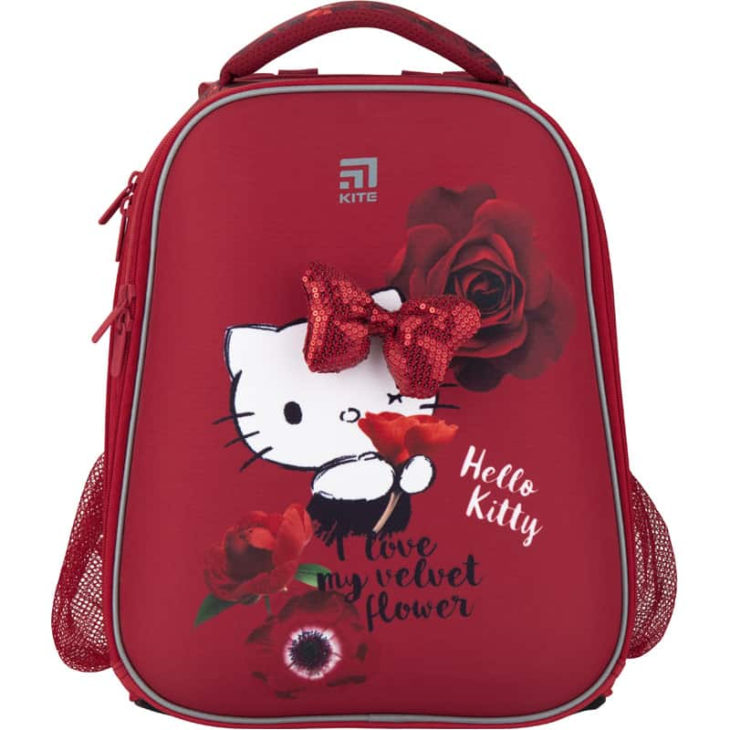 Ghiozdan ortopedic pt scoala cu carcasa  Kite Education Hello Kitty HK20-531M
