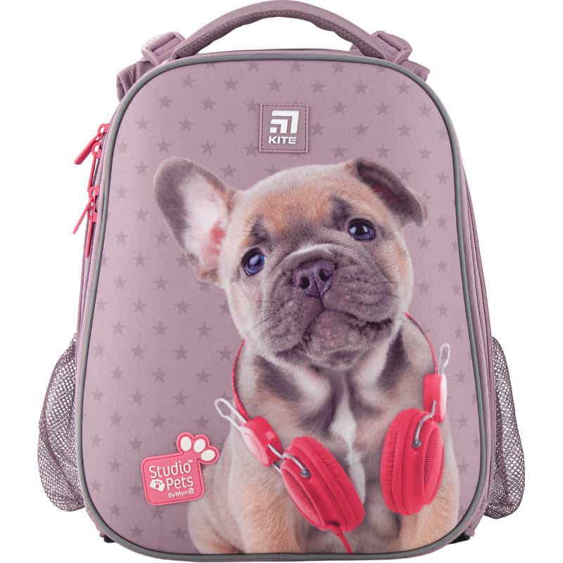 Ghiozdan pt scoala ortopedic  cu carcasa KIte Education Studio Pets SP20-531M