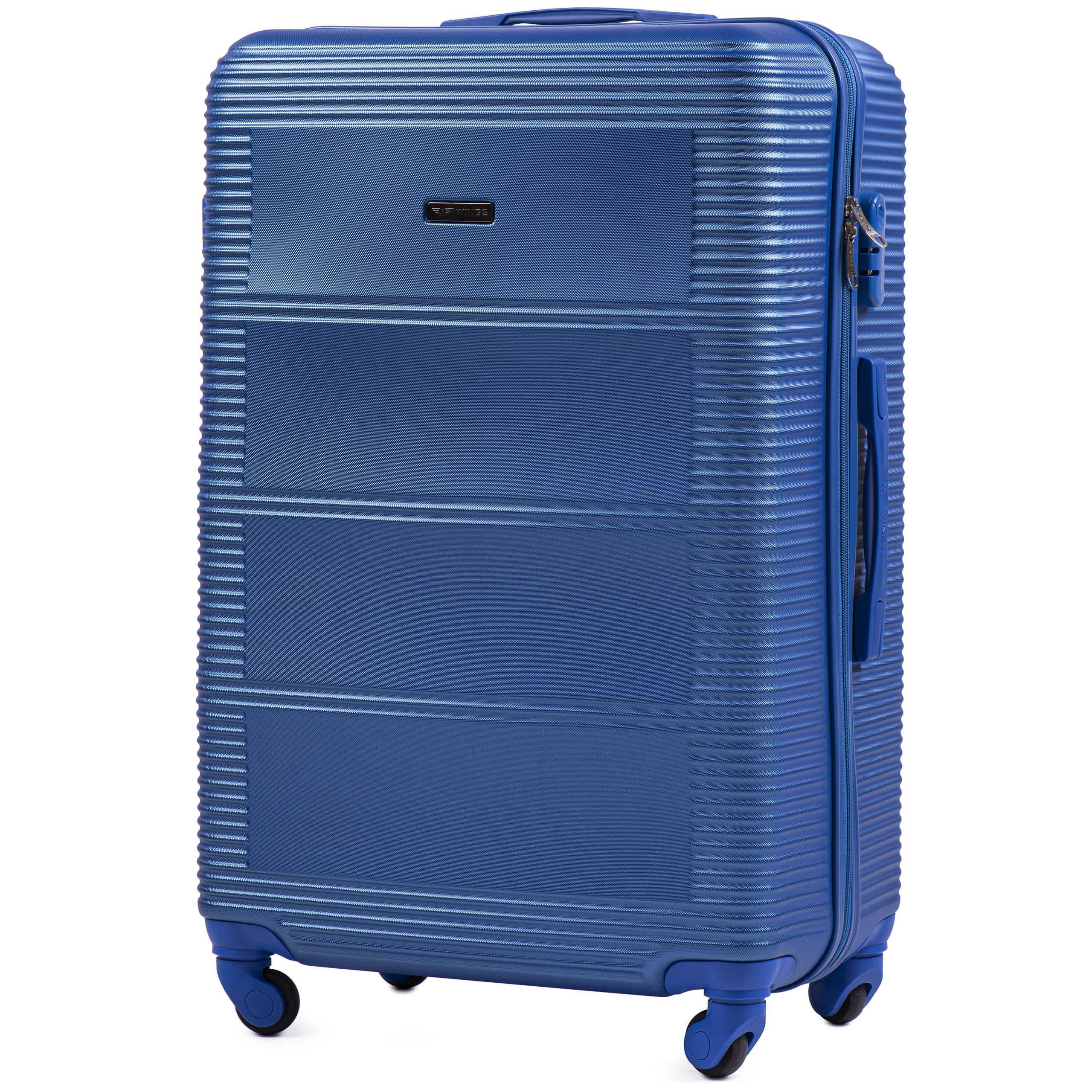 Чемодан Ударостойкий ! Большой из поликарбоната WINGS K203 L ELECTRO Для багажа ,до 23 кг