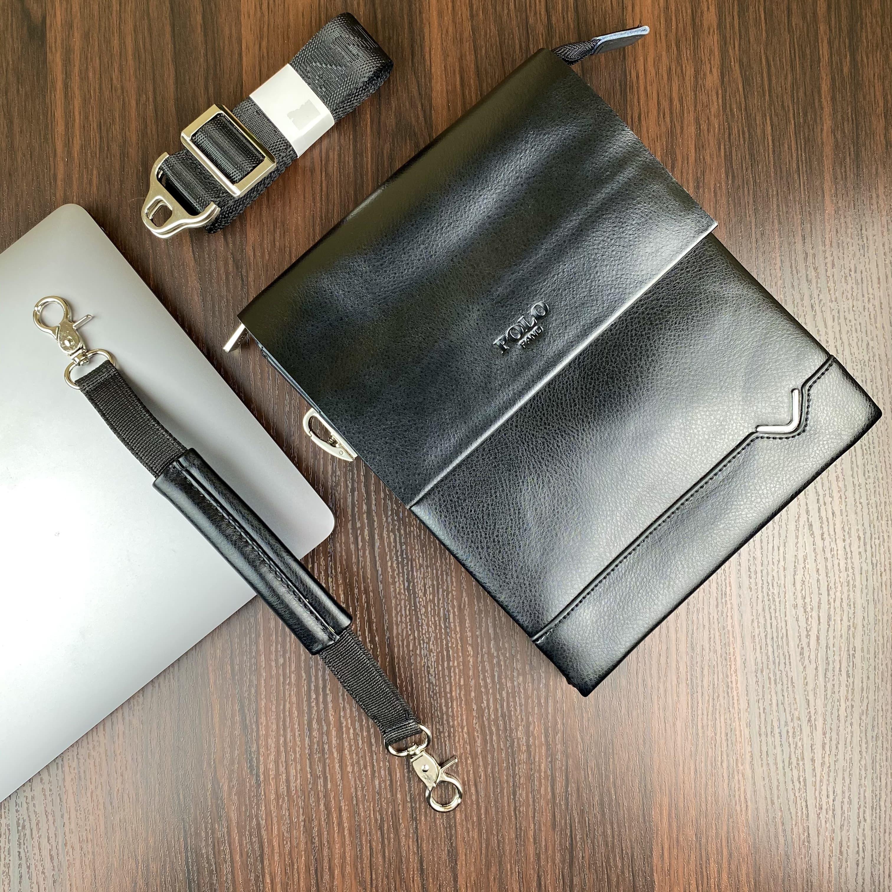 Мужская сумка  из искуственой кожи POLO B391-2 BLACK