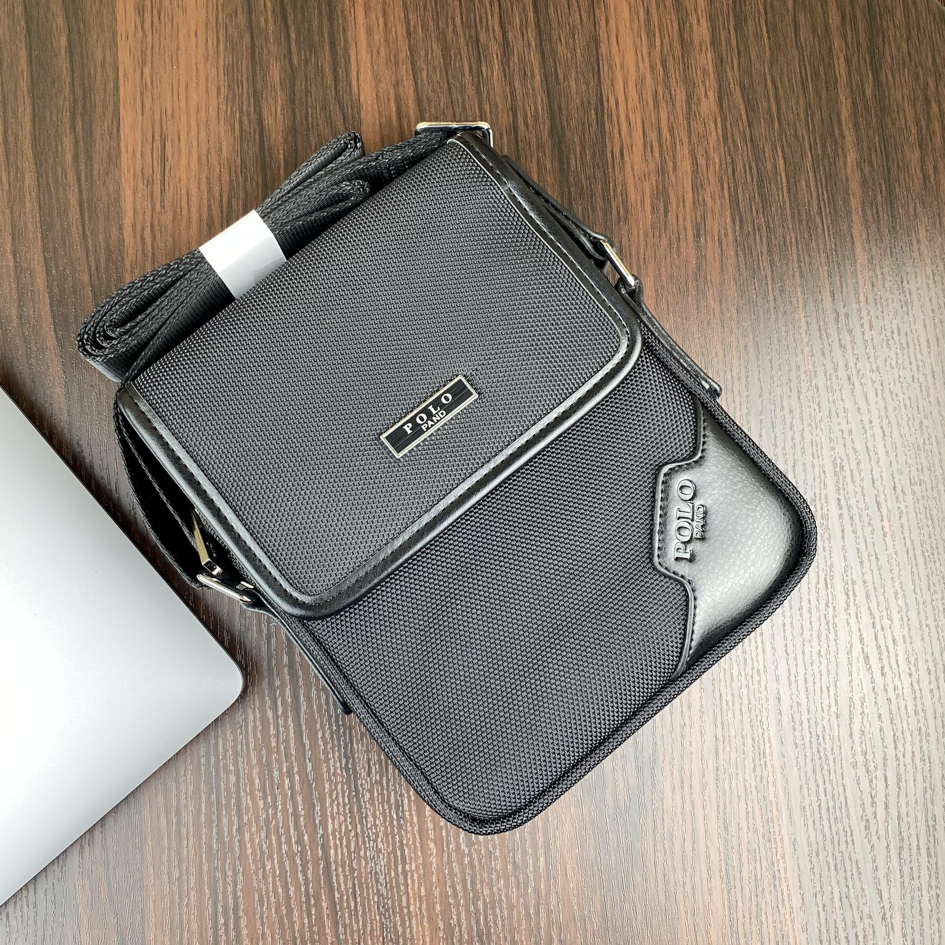 Мужская сумка из текстиля POLO B668-1 BLACK