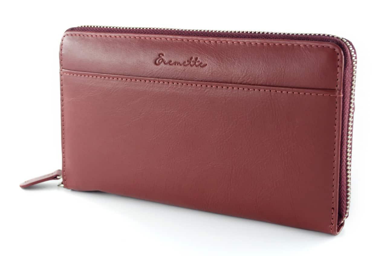 Женский кошелек  из натуральной кожи EREMETTE 40633 BORDO