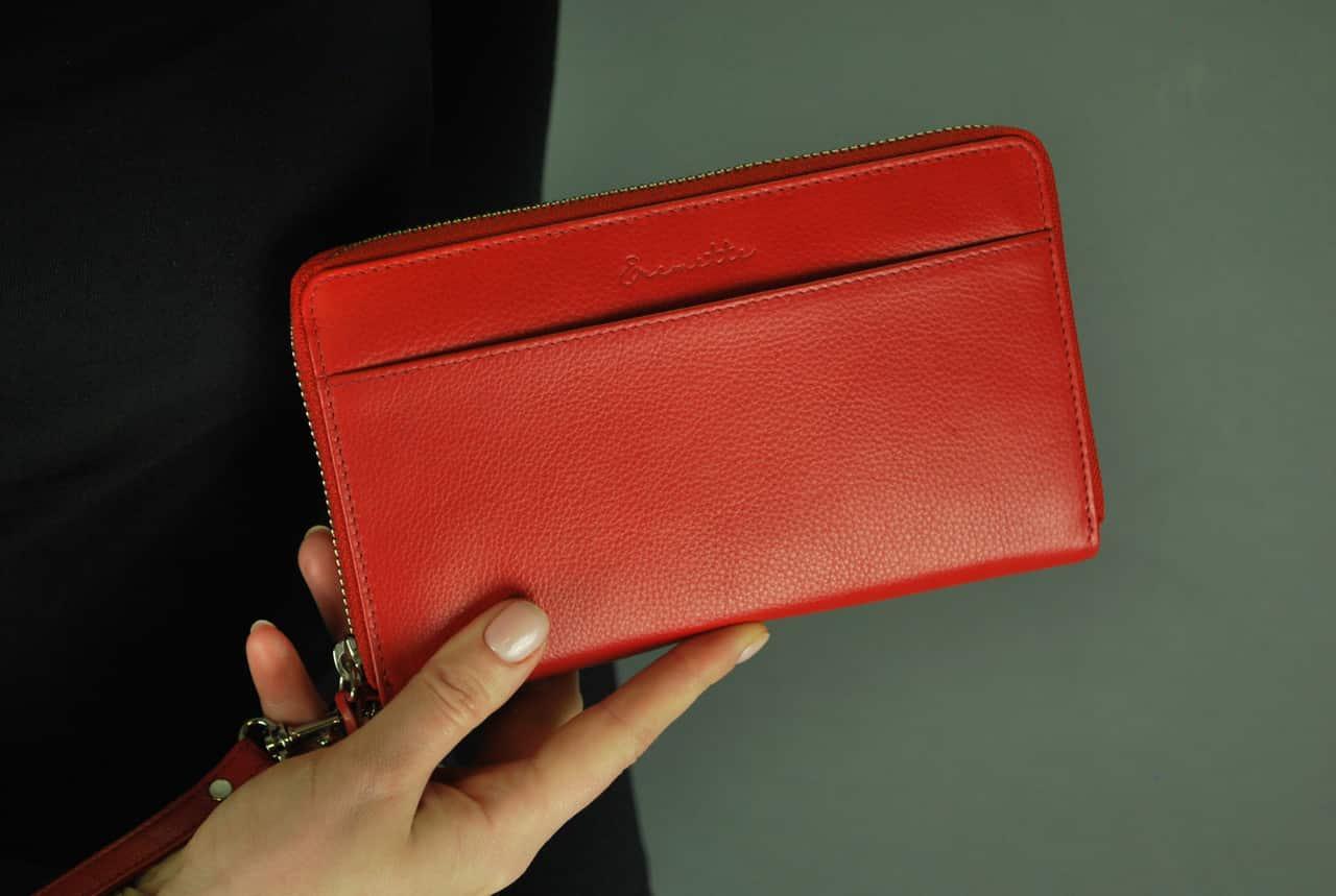 Женский кошелек  из натуральной кожи EREMETTE 40633 RED