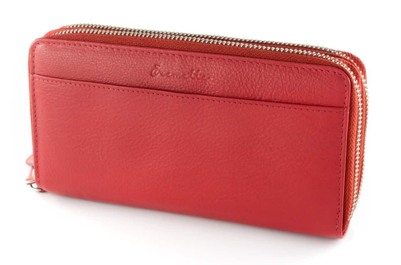 Женский кошелек  из натуральной кожи EREMETTE 40652 RED