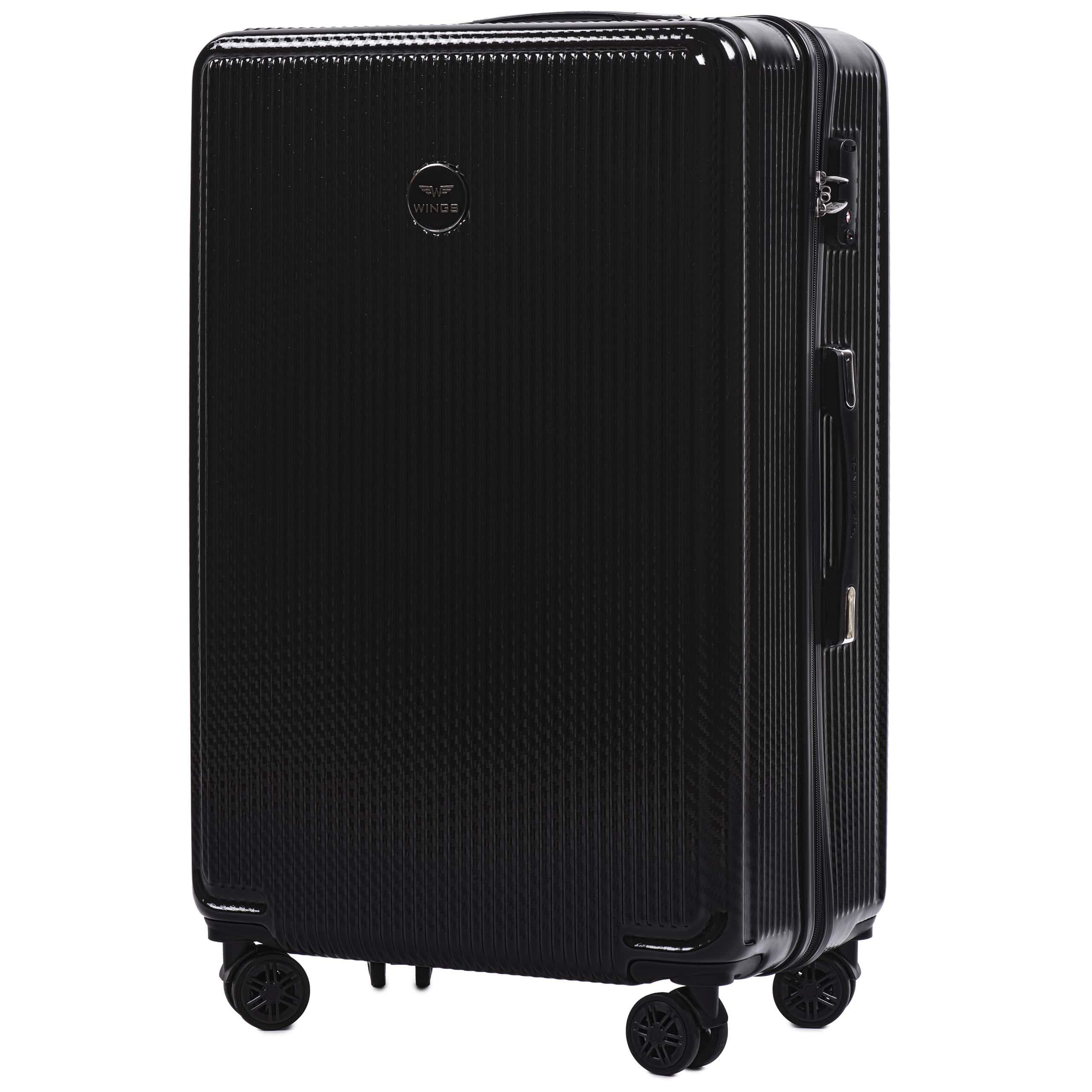 БОЛЬШОЙ ЧЕМОДАН WINGS PREMIUM 565 L BLACK. Для багажа ,до 23 кг