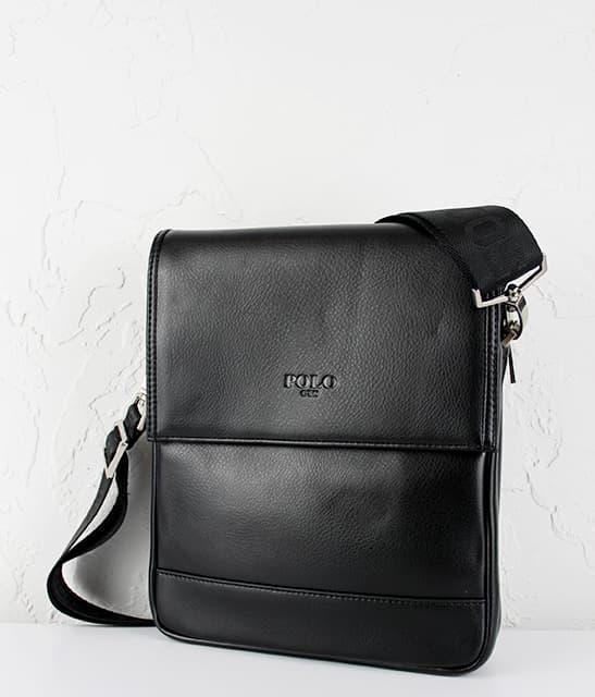 Мужская сумка из исскуственной  кожи  POLO.305-3 Black