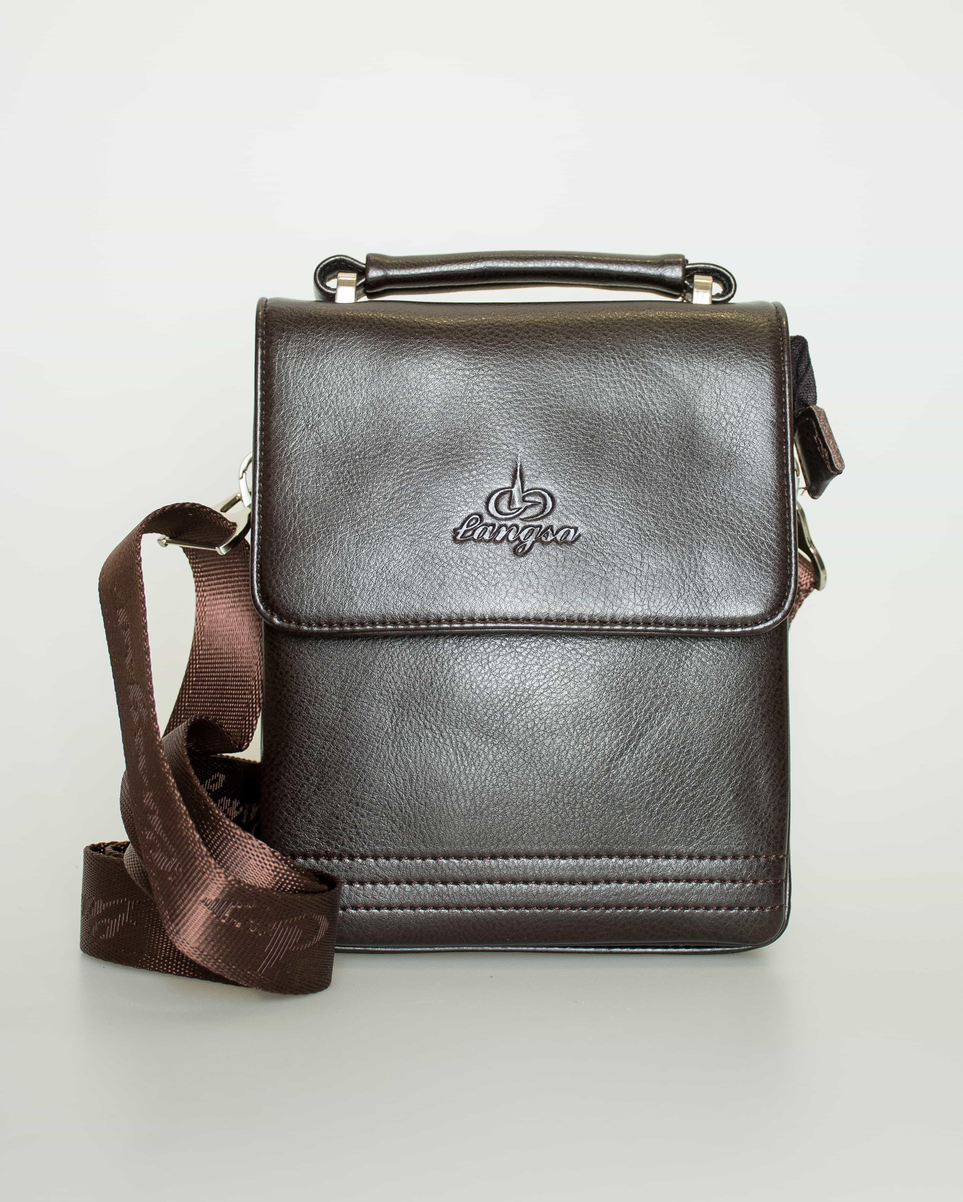 Мужская сумка из искуственной кожи.9871-1 Black