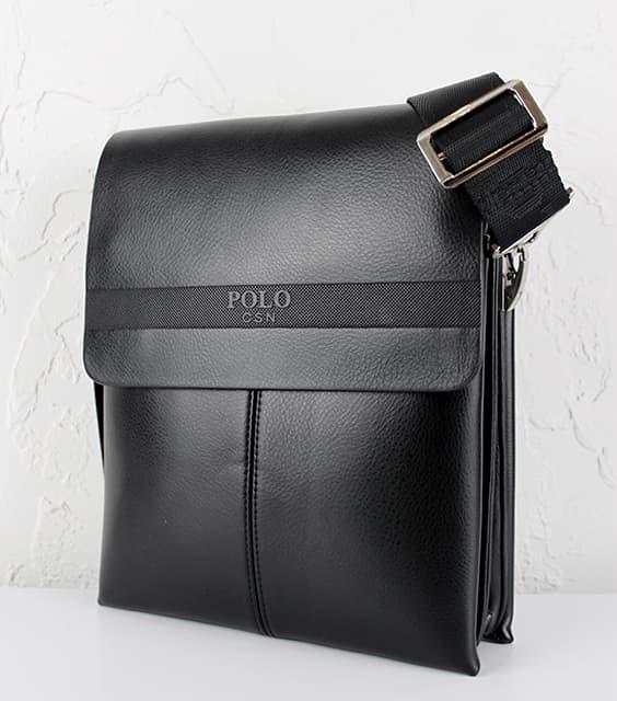 Мужская сумка из исскуственной  кожи  POLO.6682-3 Black