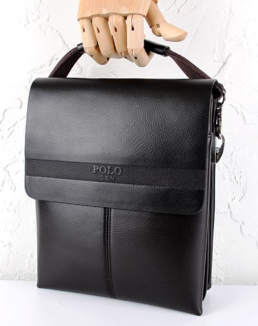 Мужская сумка из исскуственной  кожи  POLO.6682-3 Brown
