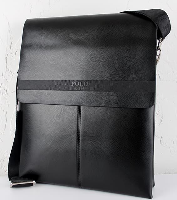 Мужская сумка из искуственной  кожи  POLO.6682-5 Black