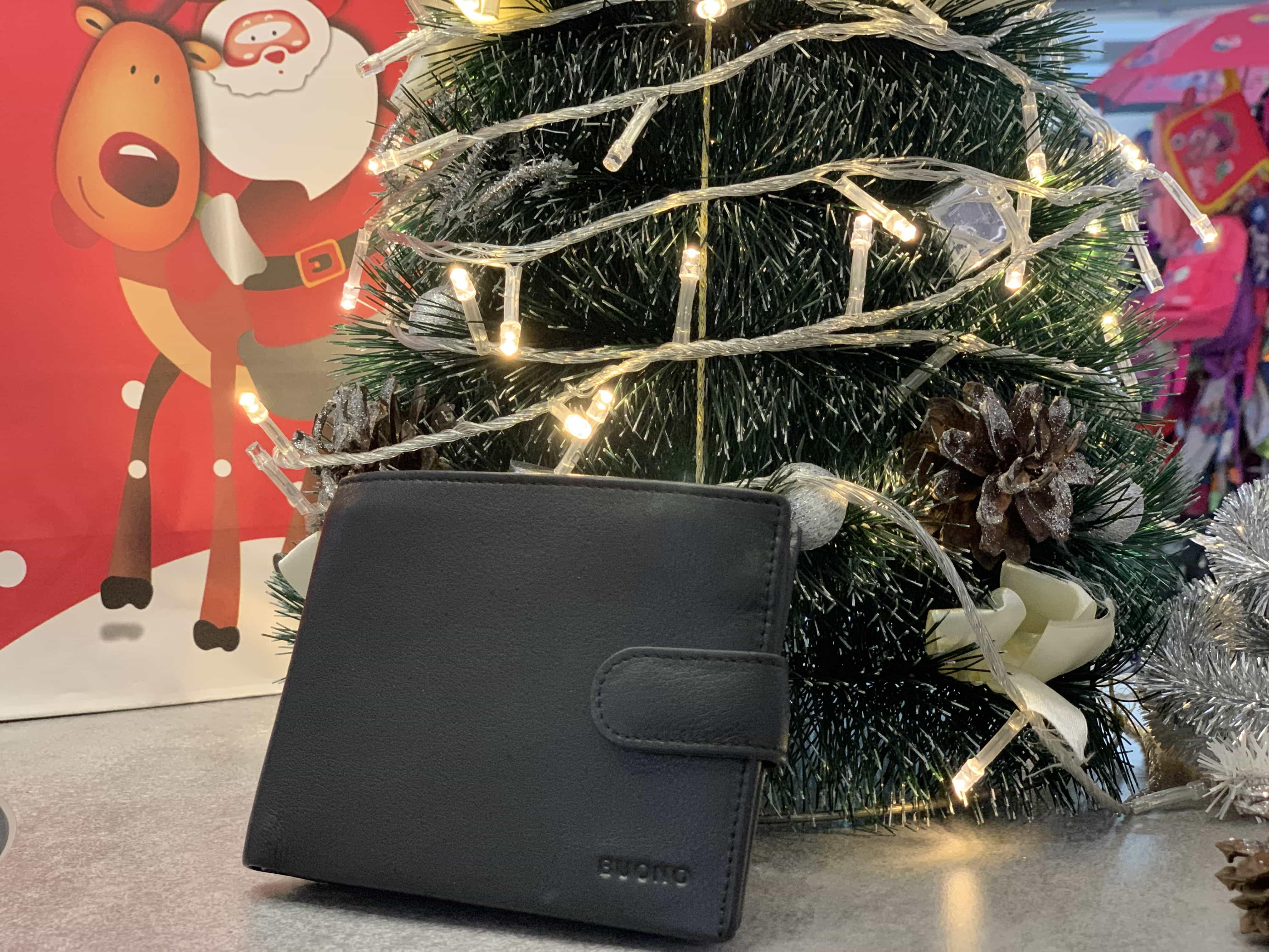 Мужской кожаный кошелек BUONO 01-8123 BLACK