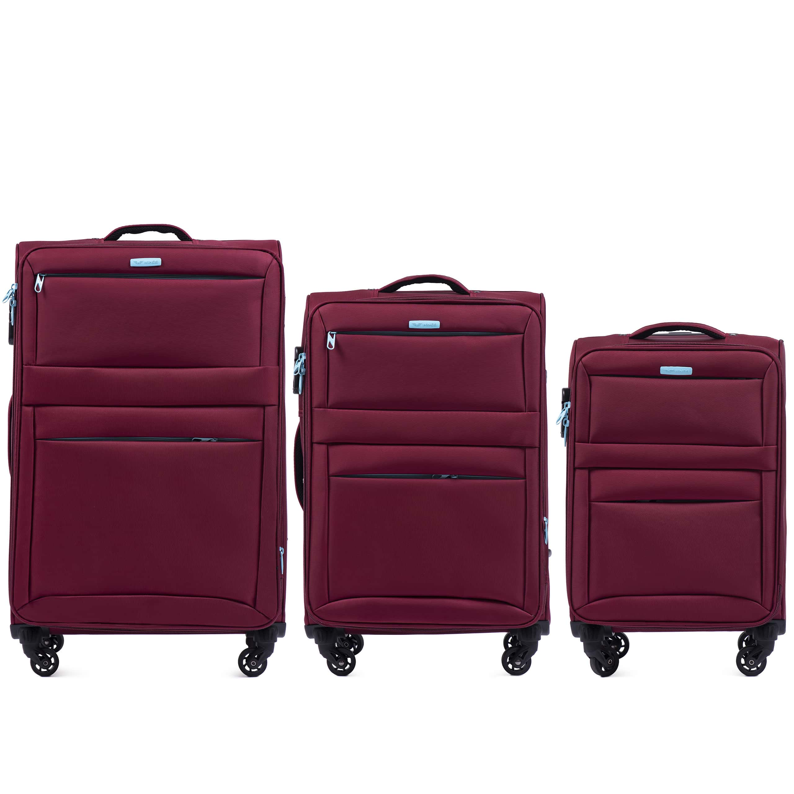SET de valize di Textil WINGS PRIME  2861 RED. Rezistente si usoare.