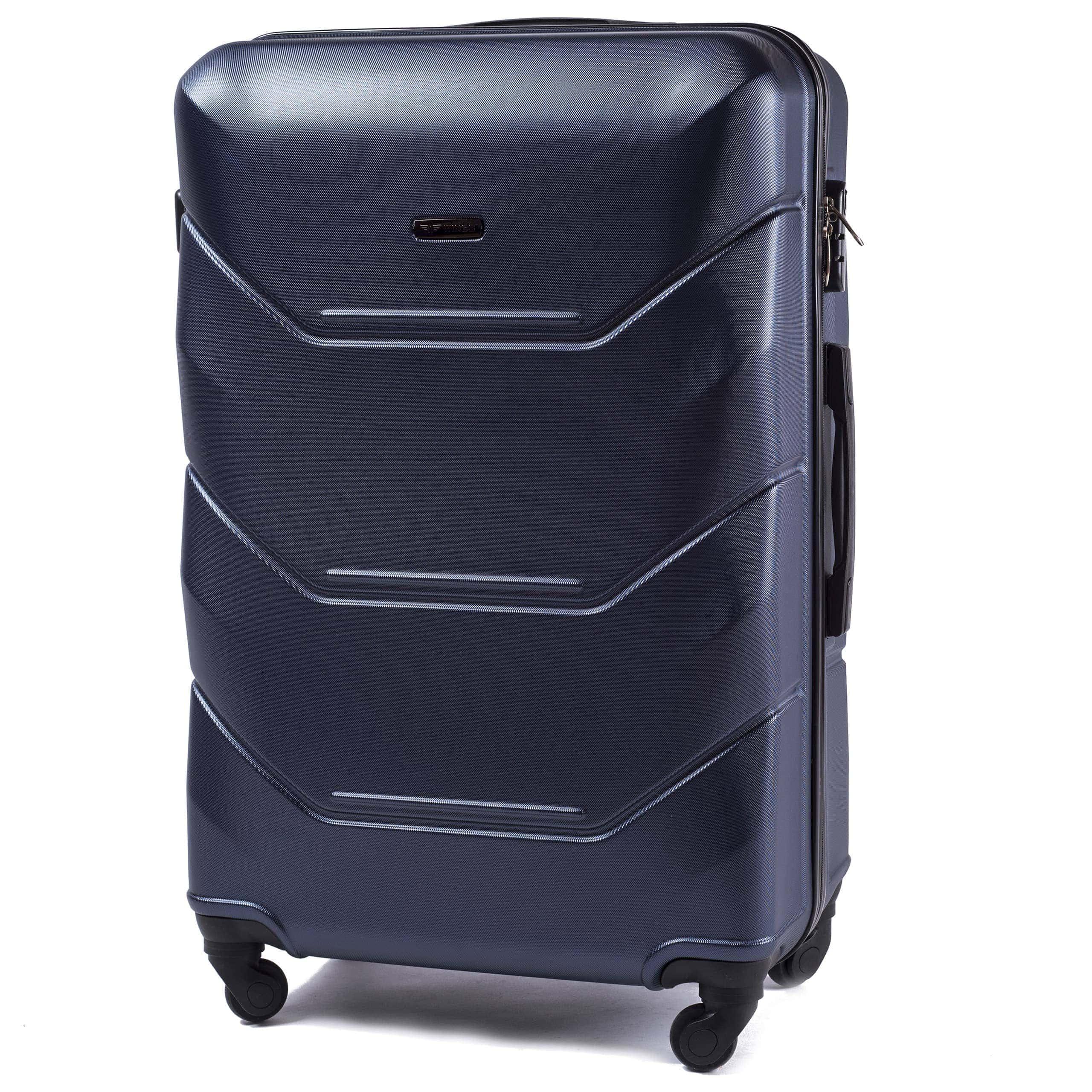 БОЛЬШОЙ ЧЕМОДАН WINGS 147 L Blue PREMIUM НА 4-Х КАУЧУКОВЫХ КОЛЕСАХ!Для багажа ,до 23 кг