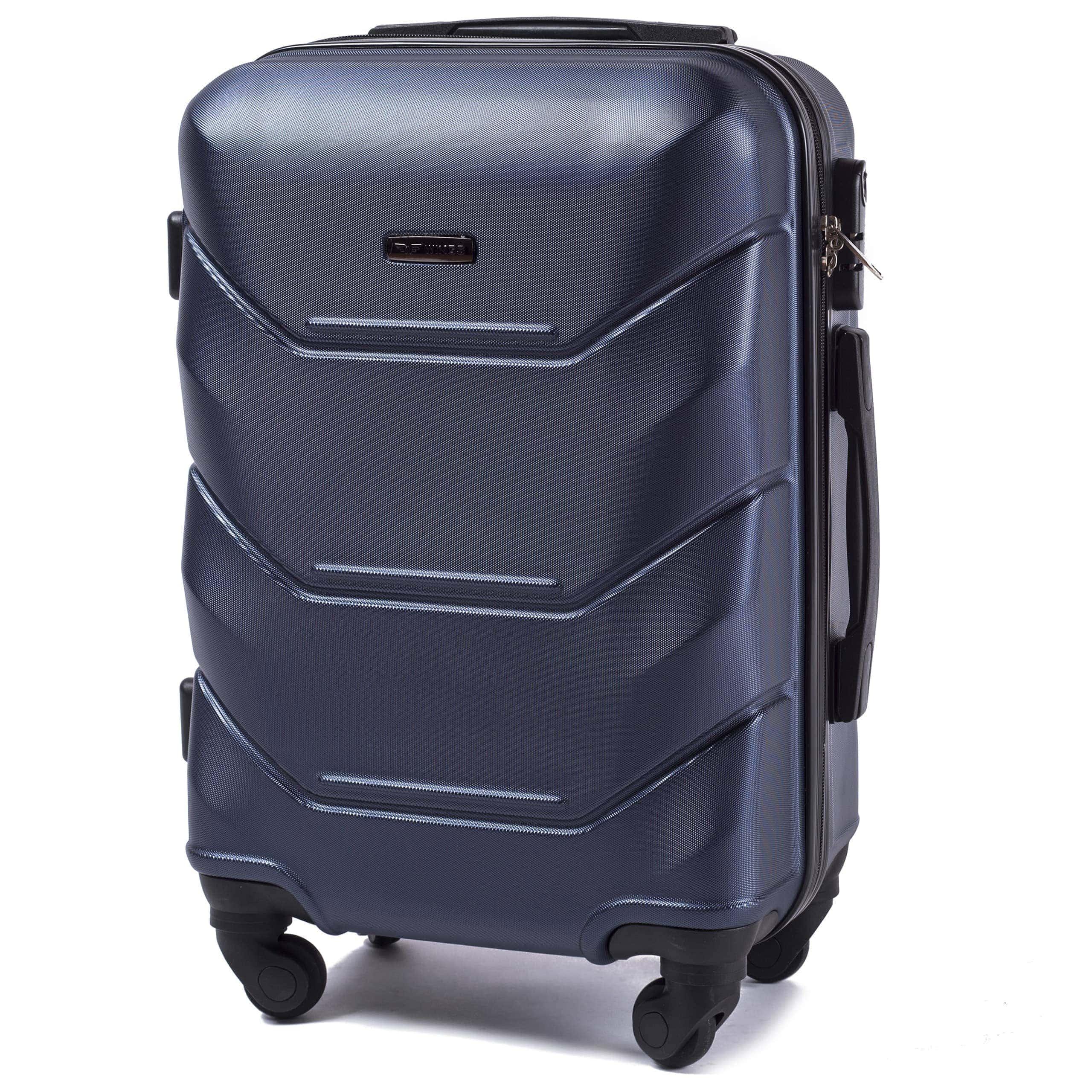 Valiza mica WINGS 147 S BLUE  Premium pe 4 roti din cauciuc!Pt bagaj,pina la 7/10 kg