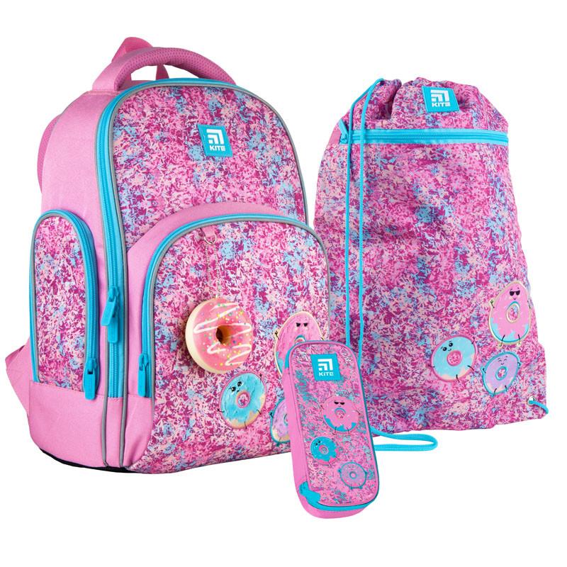 Школьный набор Kite.Ортопедический рюкзак пенал сумка SET_K21-706M-2
