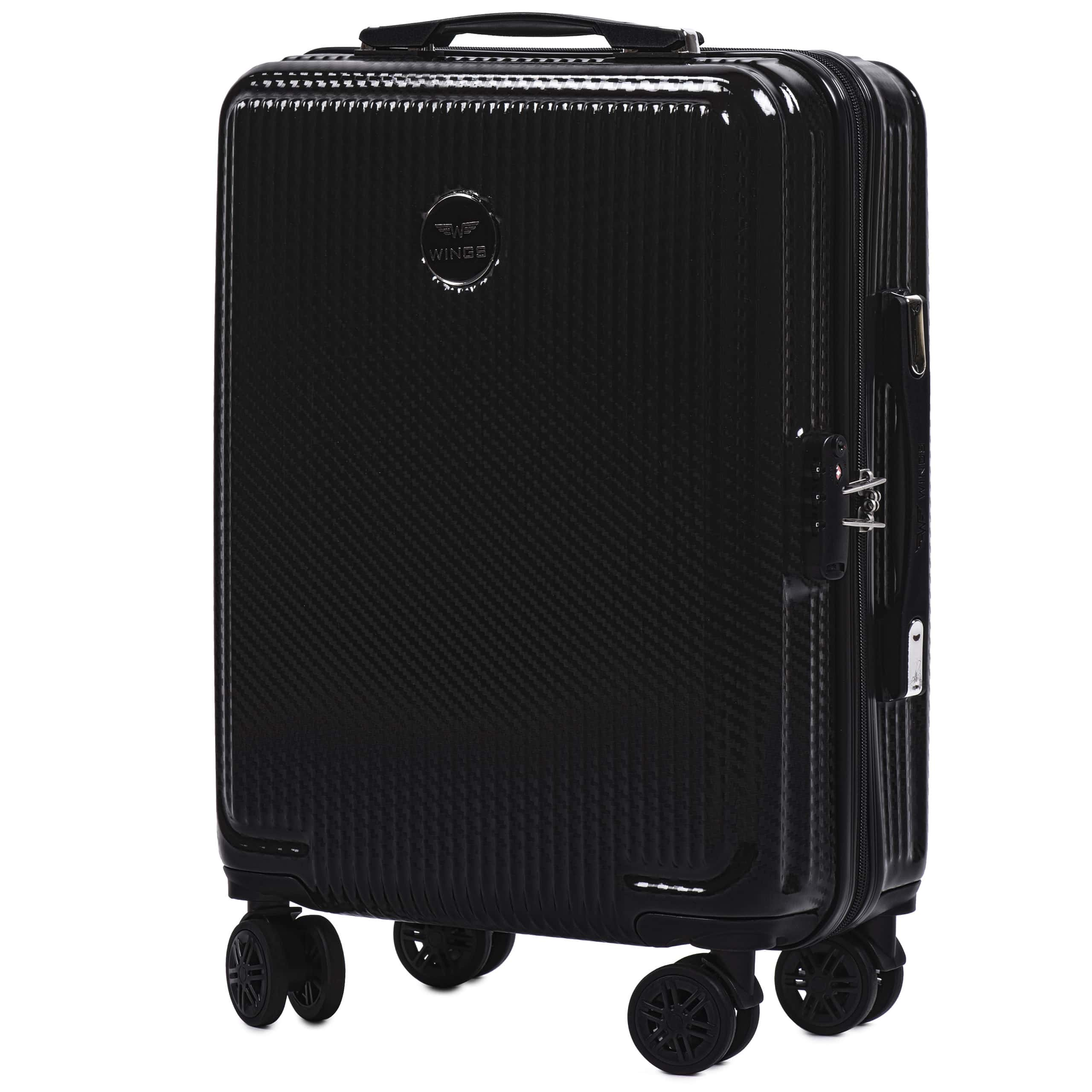 Valiza mica WINGS 565 S Black PREMIUM. Pt bagaj de maina,pina la  7-10 kg