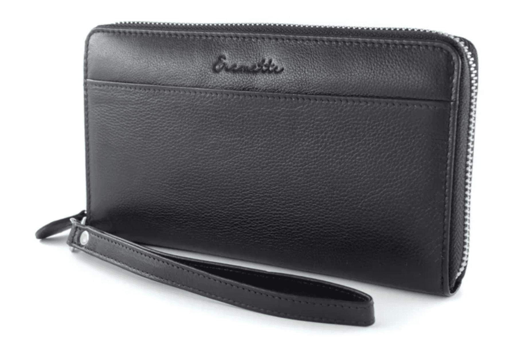 Женский кошелек  из натуральной кожи EREMETTE 40633 BLACK