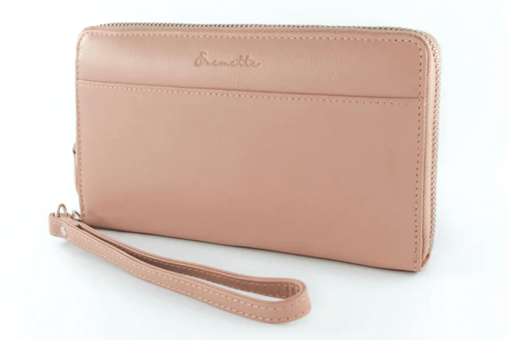Женский кошелек  из натуральной кожи EREMETTE 40633  PINK