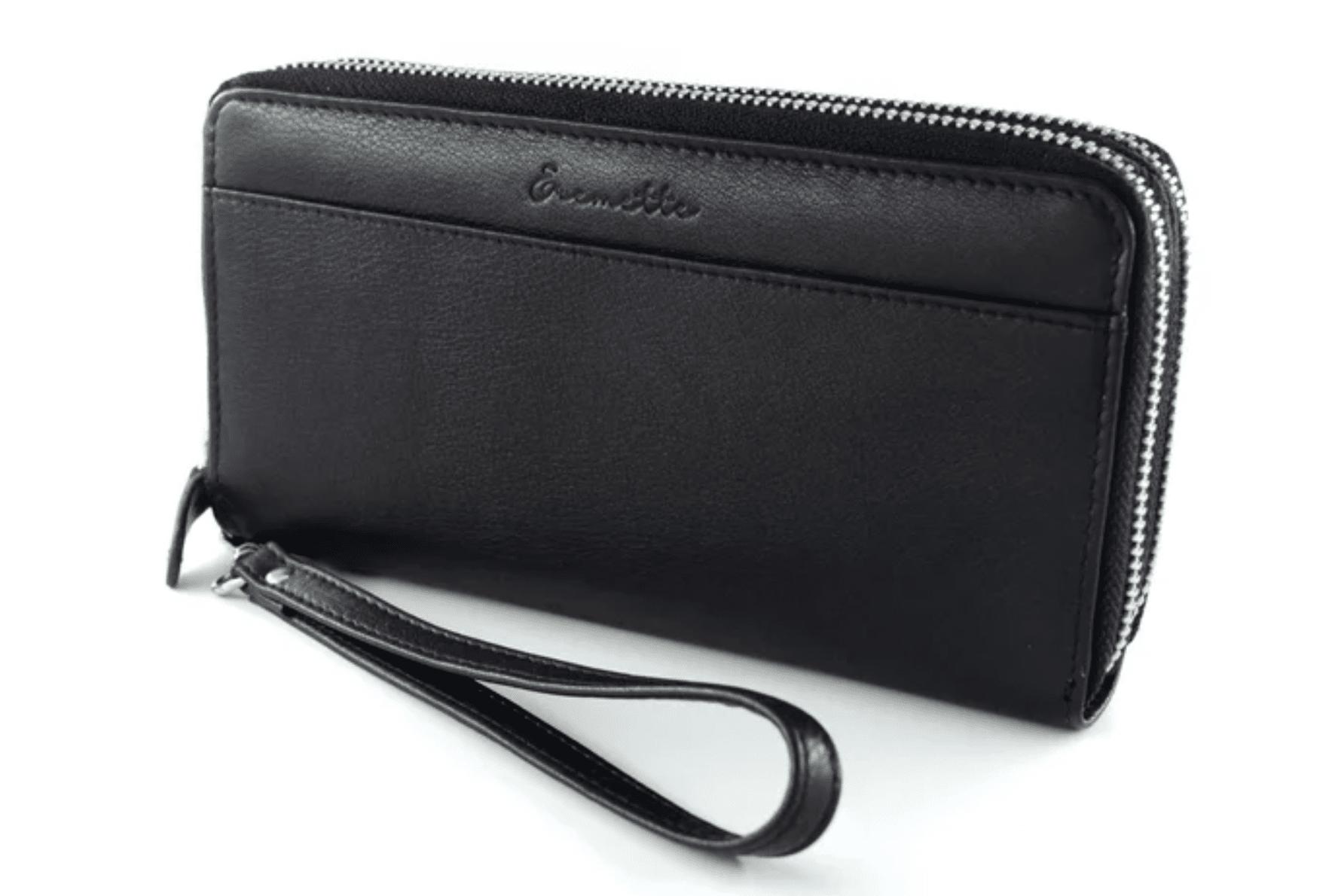 Женский кошелек  из натуральной кожи EREMETTE 40652 BLACK