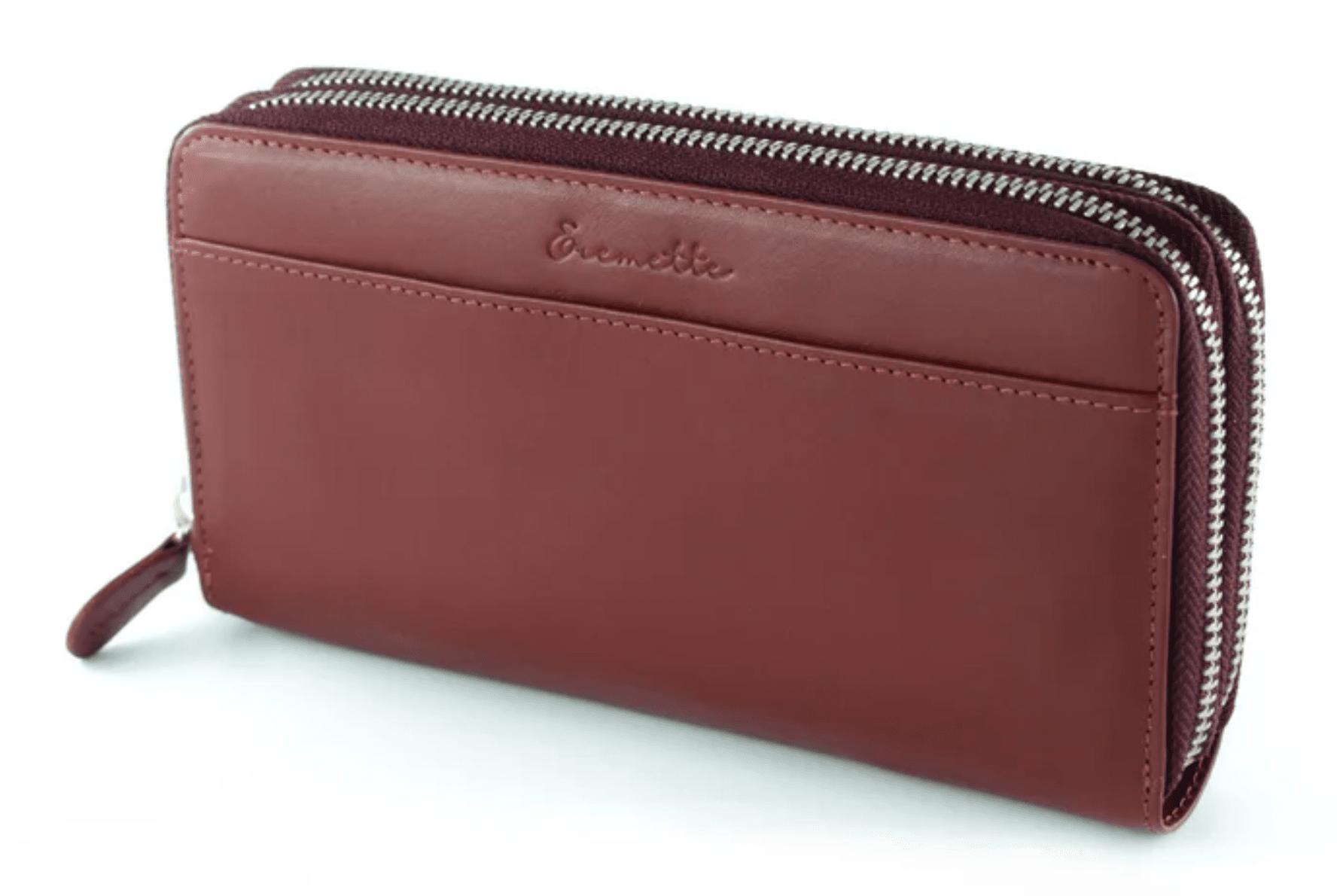 Женский кошелек  из натуральной кожи EREMETTE 40652 BORDO
