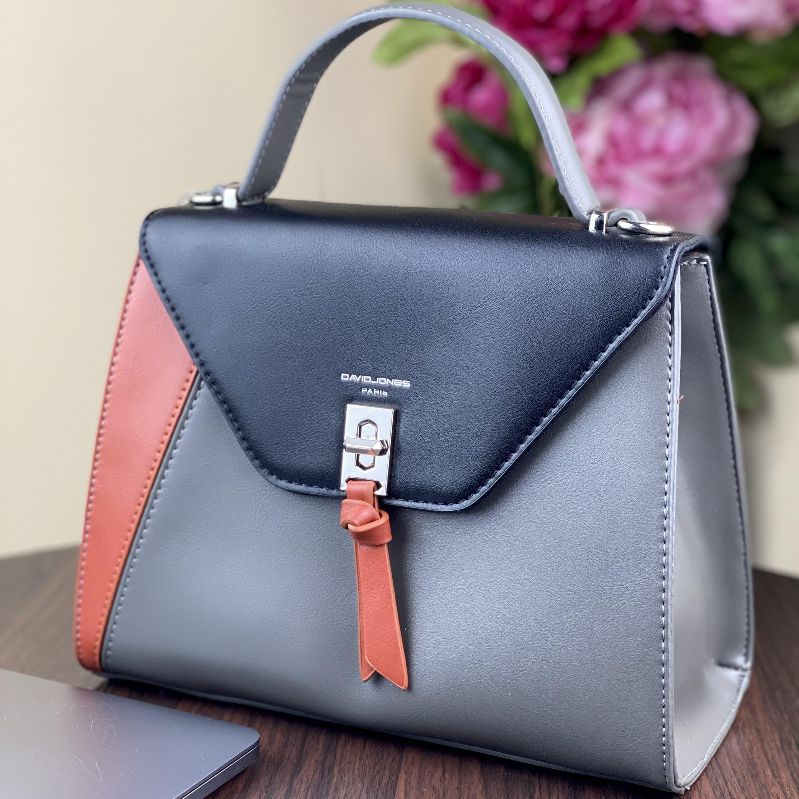Женская сумка David Jones 6410-1T Black Grey