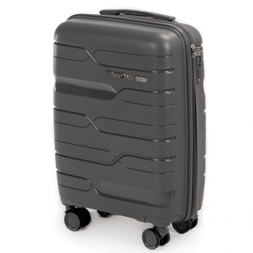 Маленький чемодан для ручной клади WINGS PP-08 S GREY! ДЛЯ 7-10 кг!