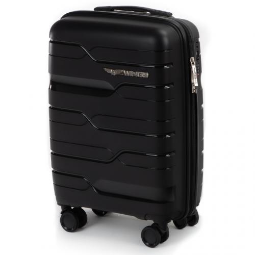 Маленький чемодан для ручной клади WINGS PP-08 S BLACK! ДЛЯ 7-10 кг!