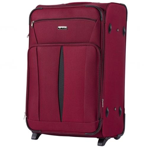 Большой тканевый чемодан на 2 колесах WINGS 1601-2 L RED