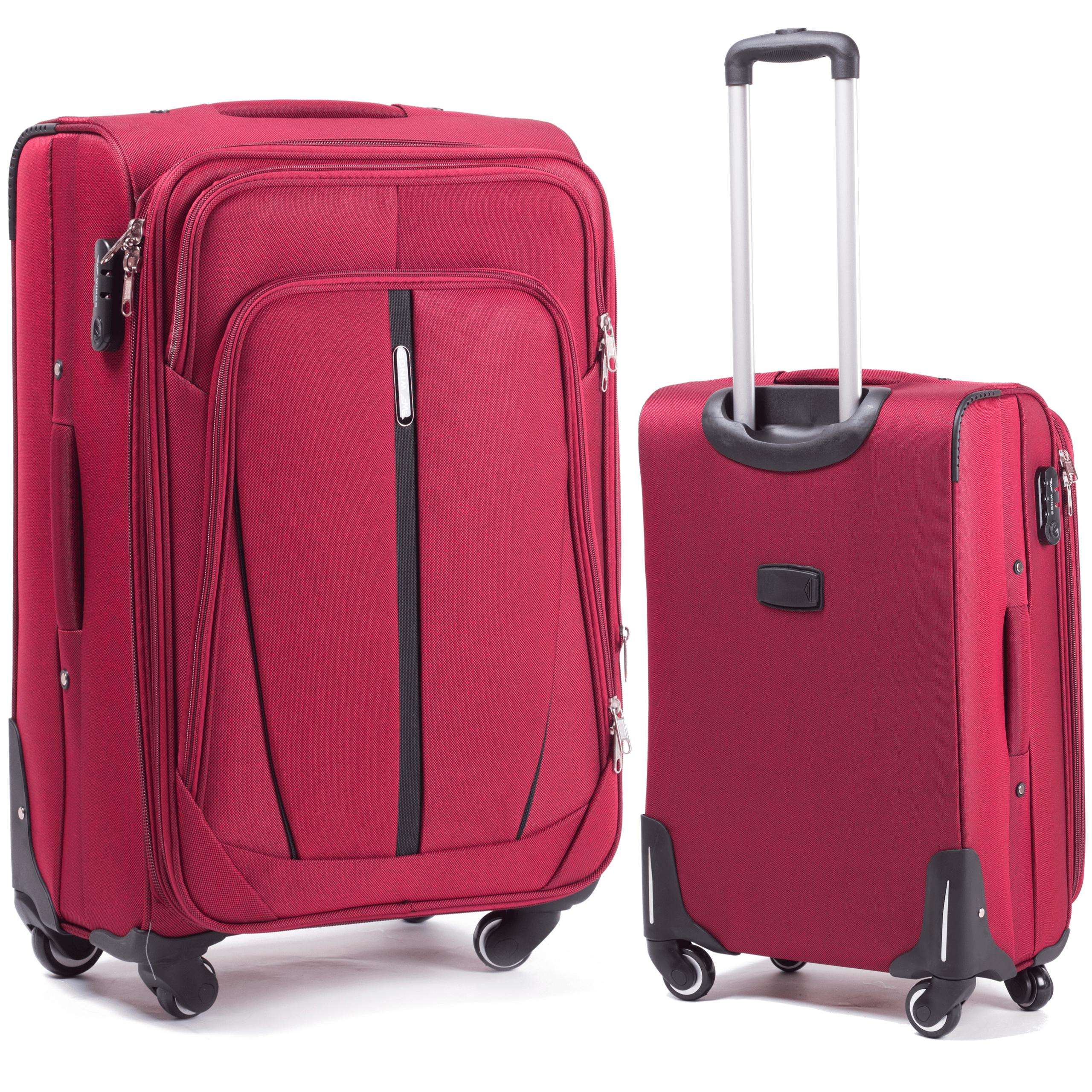 Малый Тканевый Чемодан Wings 1706-4 S Red PREMIUM на 4-х прочных колесах! Для багажа,до 10 кг