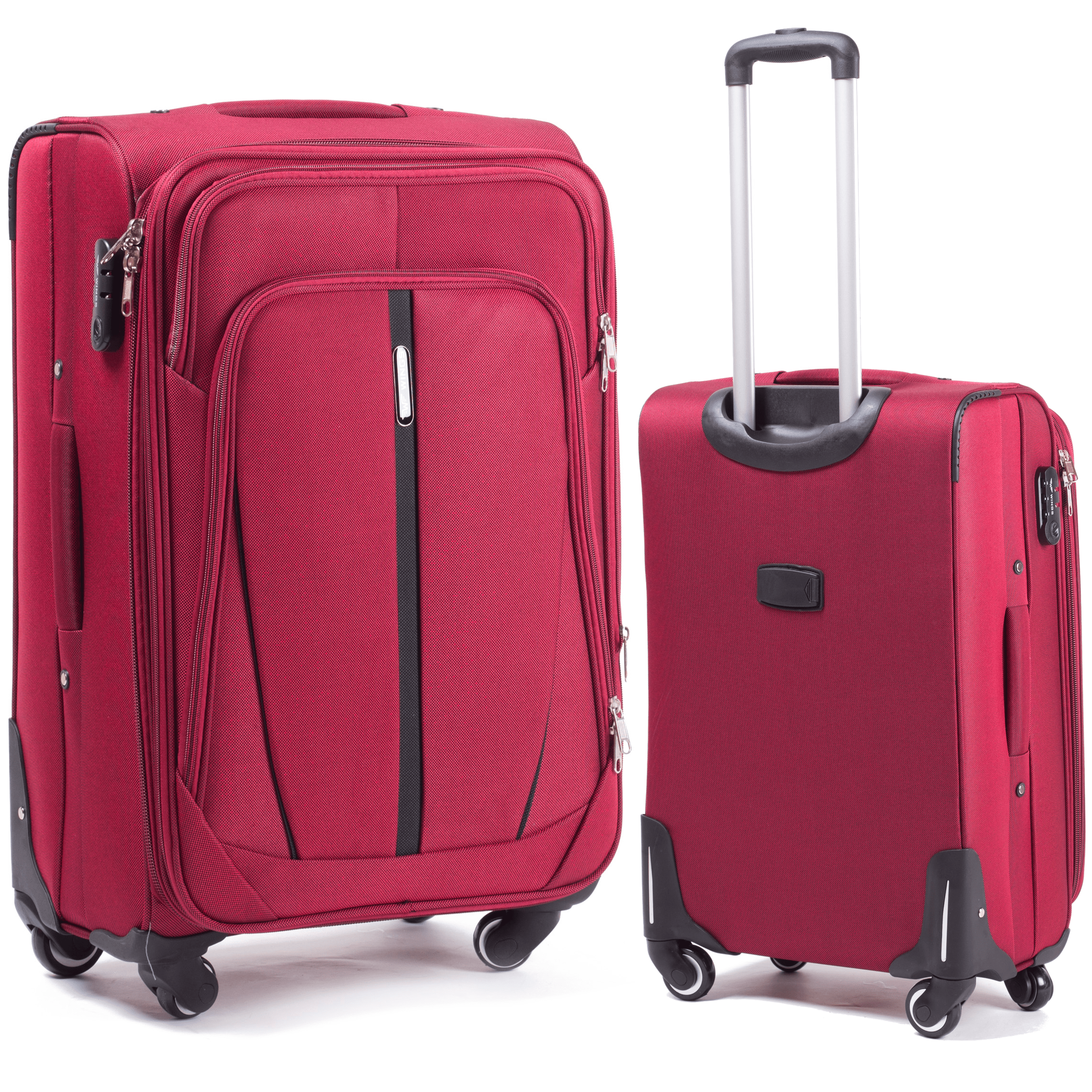 Большой Тканевый Чемодан Wings 1706-4 L Red PREMIUM на 4-х прочных колесах! Для багажа,до 23 кг