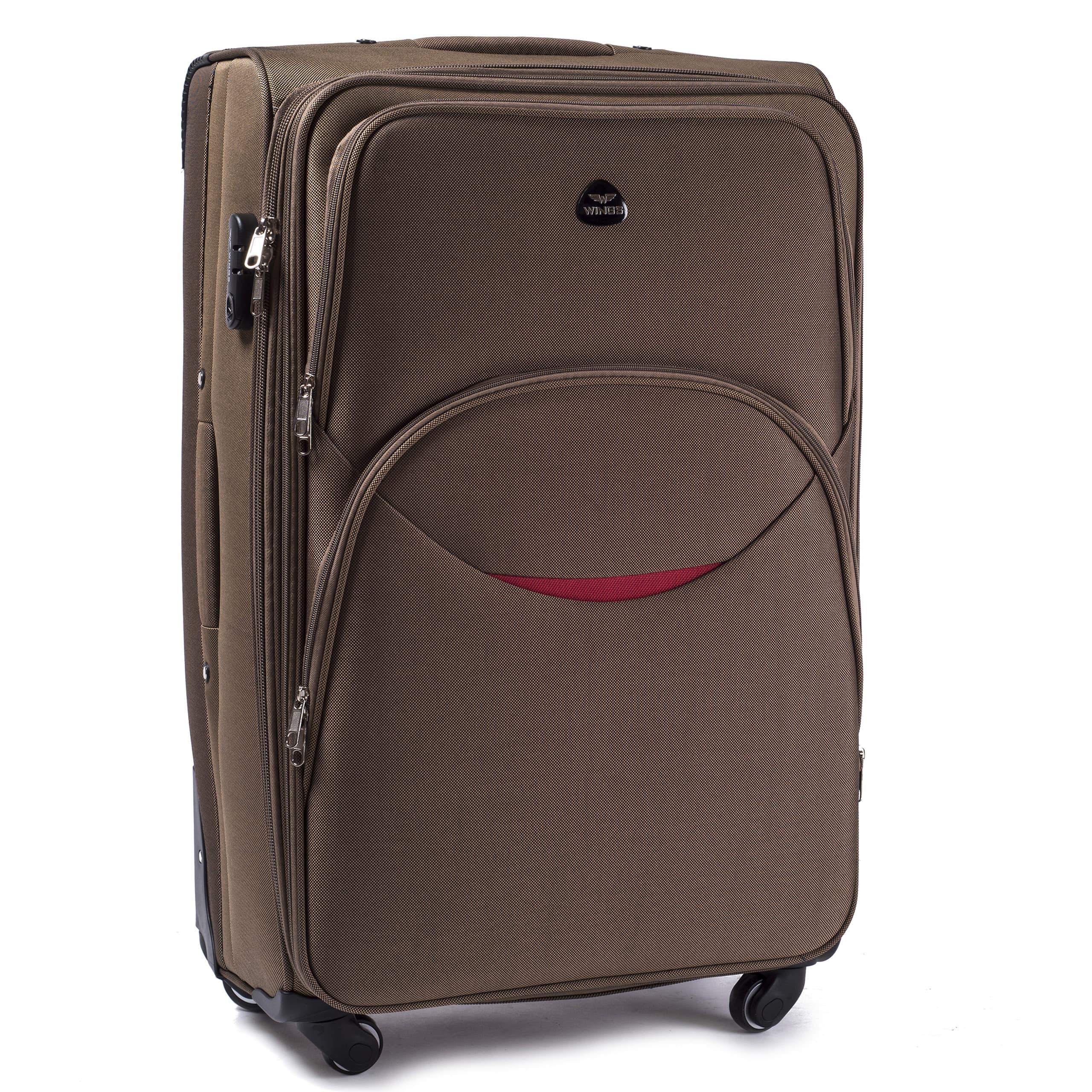 Большой Тканевый Чемодан Wings 1708-4 L D.YELLOW PREMIUM на 4-х прочных колесах! Для багажа,до 23 кг