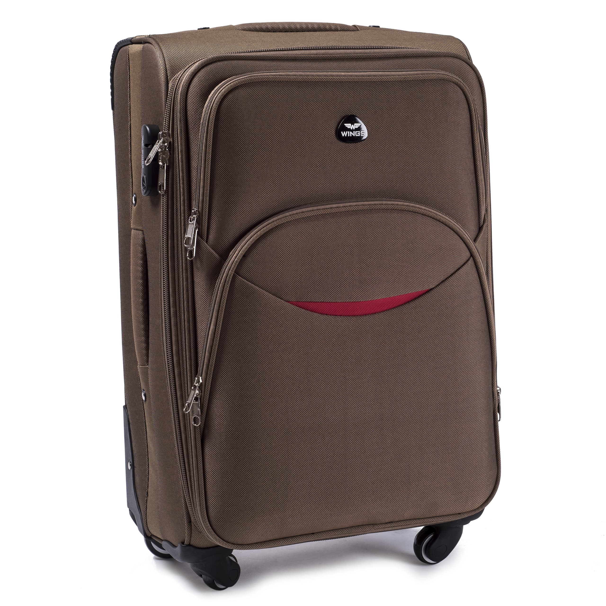 Средний Тканевый Чемодан Wings 1706-4 M D.YELLO PREMIUM на 4-х прочных колесах! Для багажа,до 18 кг