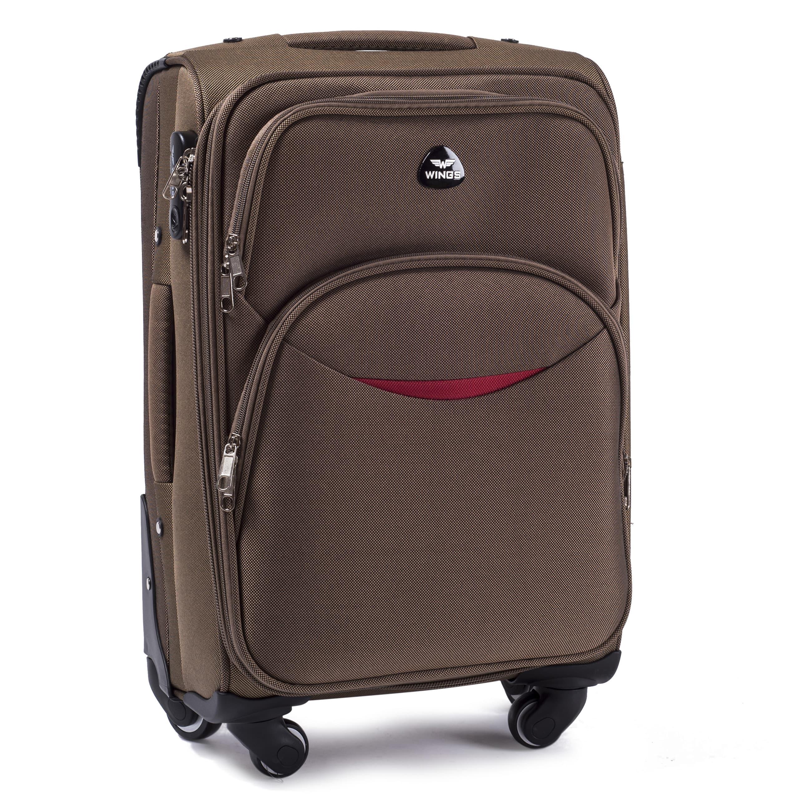 Малый Тканевый Чемодан Wings 1706-4 S D.YELLOWPREMIUM на 4-х прочных колесах!  Для багажа,до 10 кг