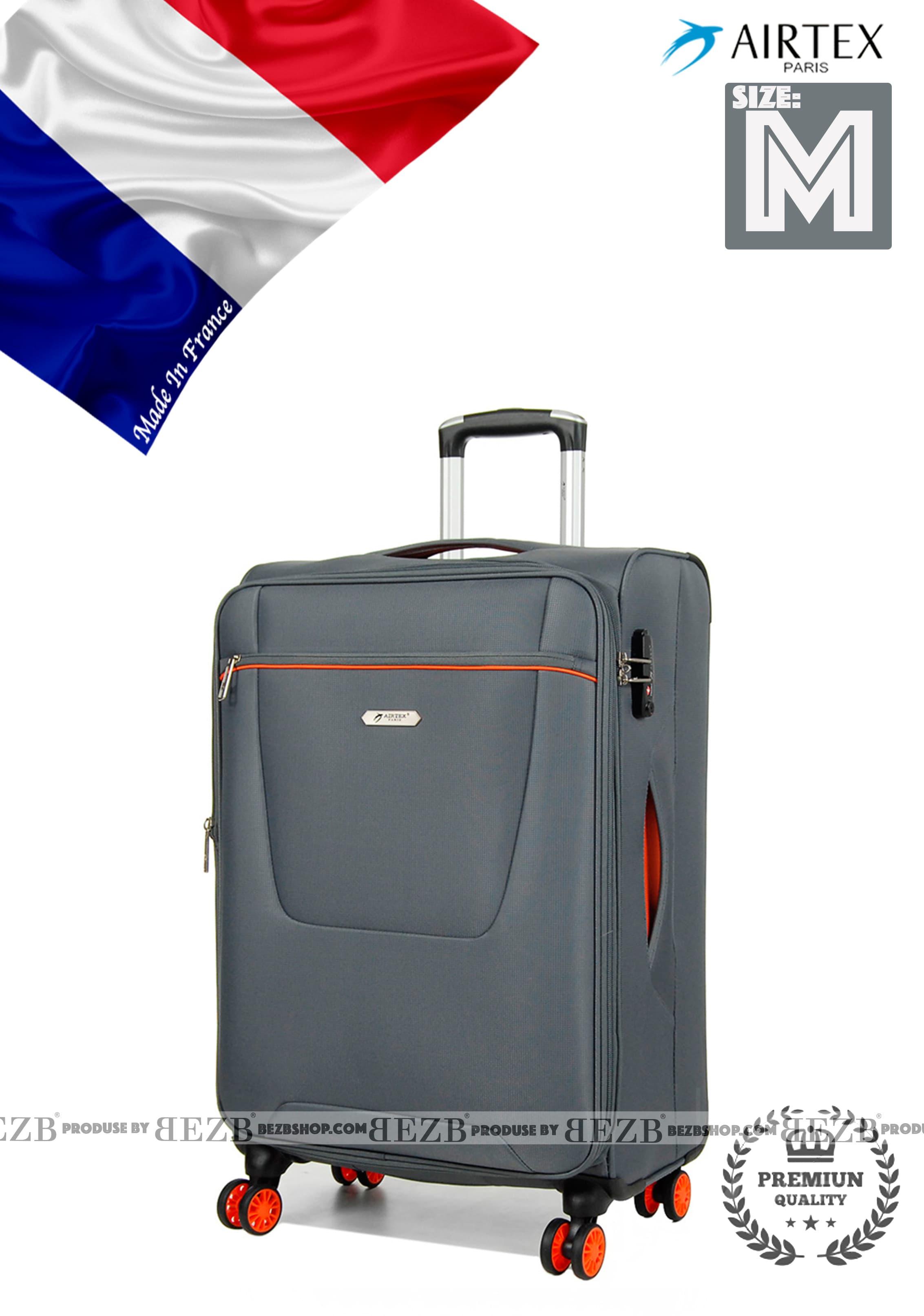 Ультра легкий средний тканевый чемодан на 4-х кол.Для багажа,до 18 кг
