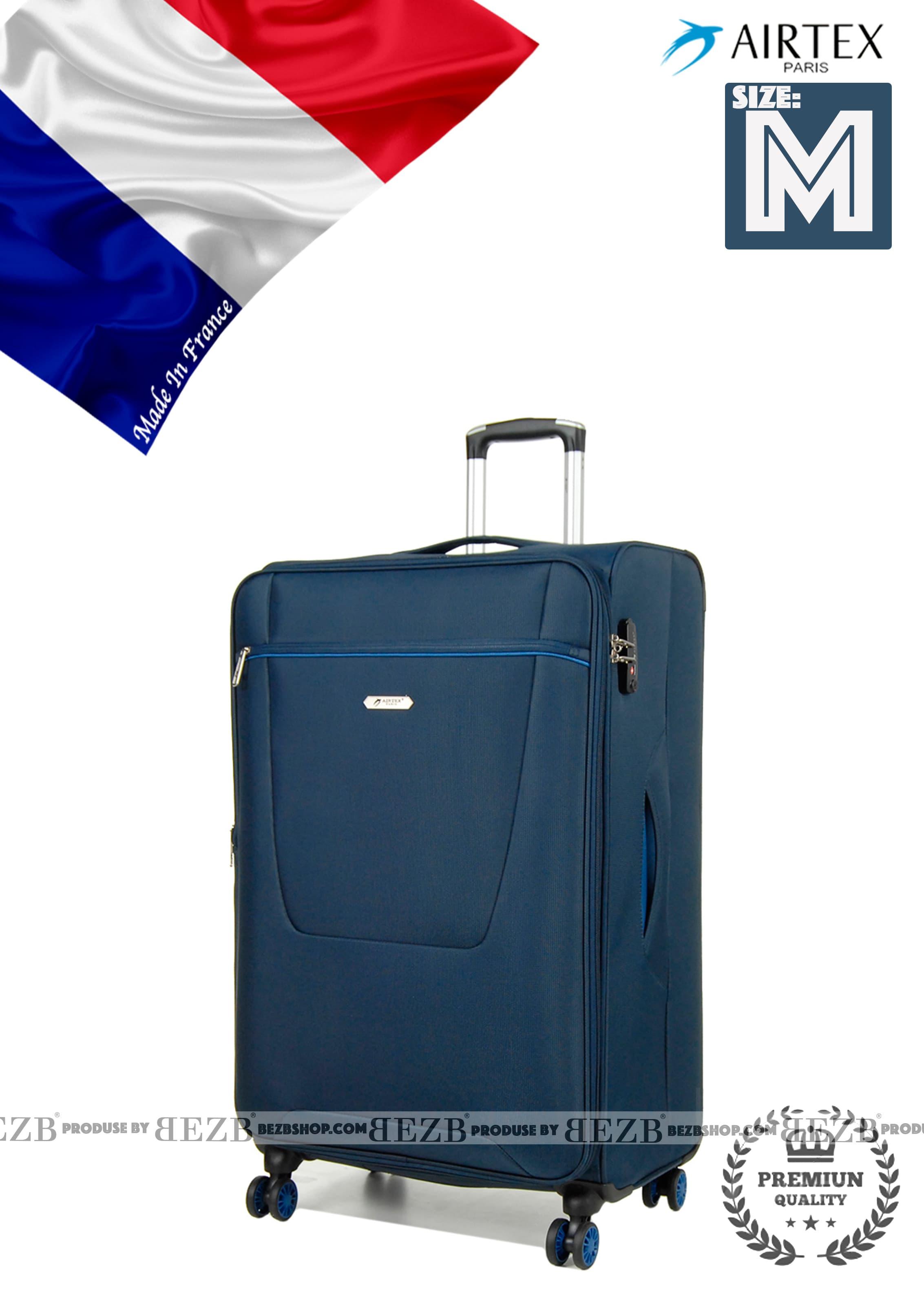 Ультра легкий средний тканевый чемодан на 4-х кол. Для багажа,до 18 кг