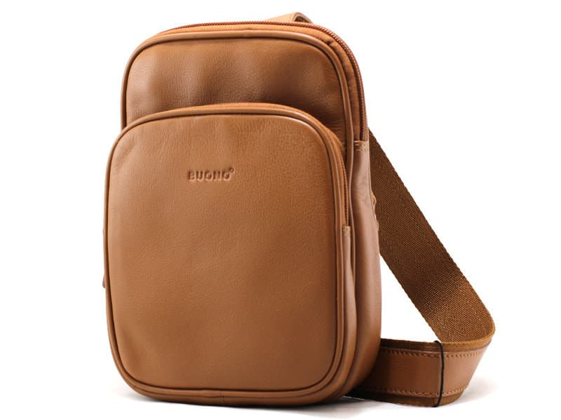 Кожаная сумка-рюкзак BUONO 010-3003 (H) COGNAC