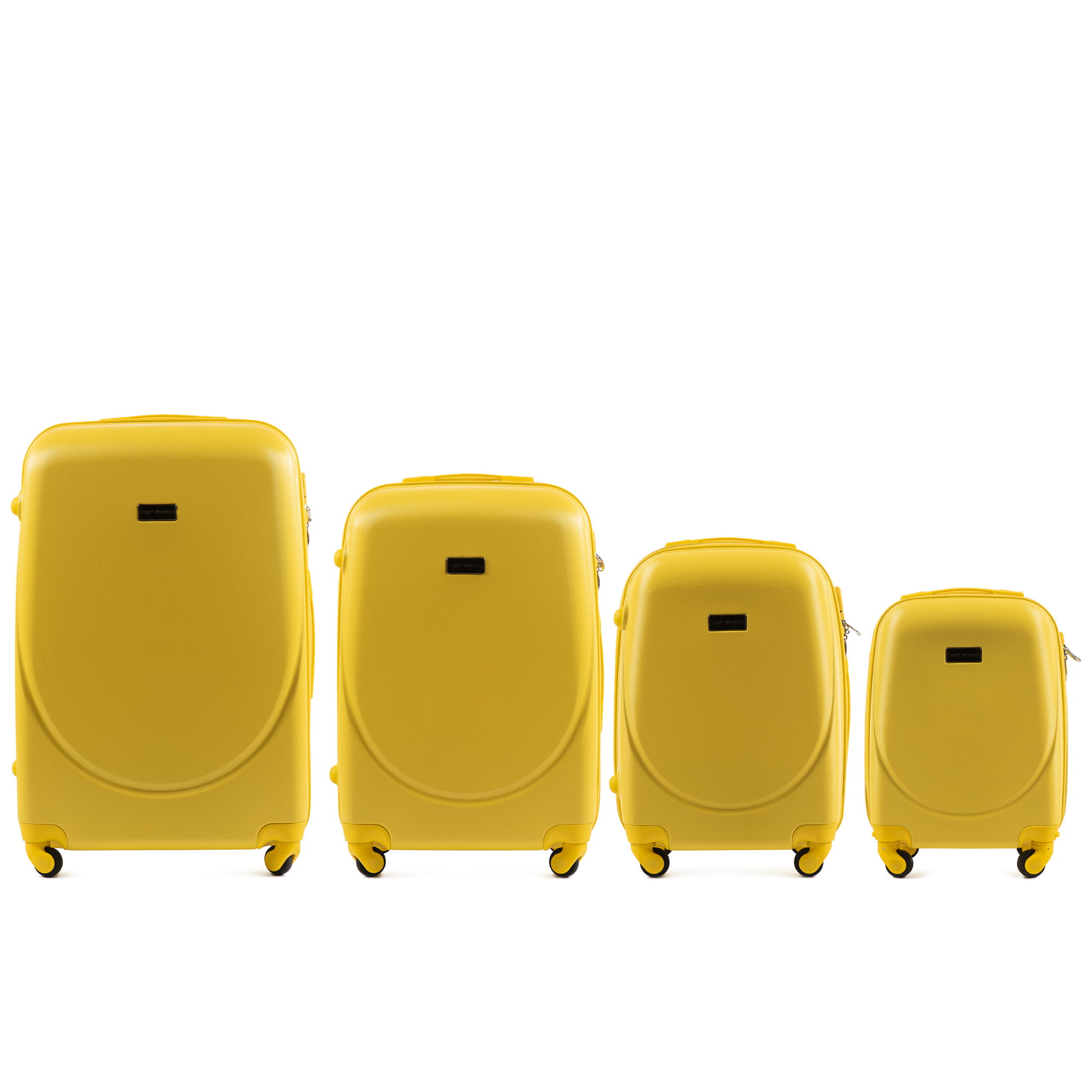 Set de valize din ABS Policarbonat pe 4 roti! Rezistente si usoare! SET WINGS K310  YELLOW