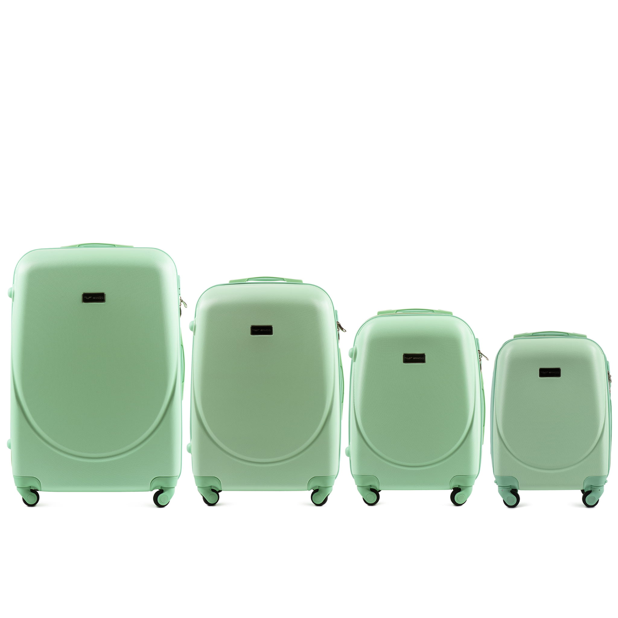 Set de valize din ABS Policarbonat pe 4 roti! Rezistente si usoare! SET WINGS K310  L.GREEN