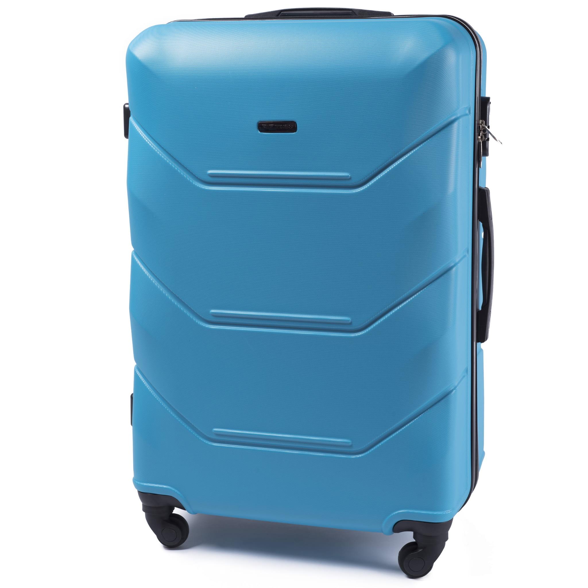 БОЛЬШОЙ ЧЕМОДАН WINGS 147 L Cyan  PREMIUM НА 4-Х КАУЧУКОВЫХ КОЛЕСАХ! Для багажа ,до 23 кг!