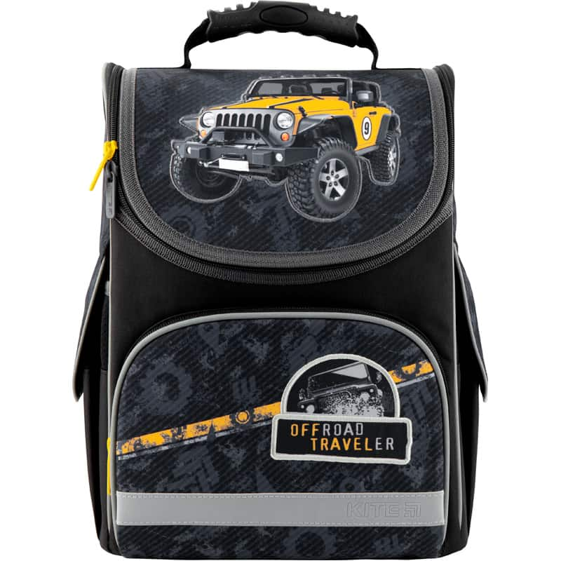 Ghiozdan ortopedic pt școală cu carcasa Kite Education Off-road K20-501S-1