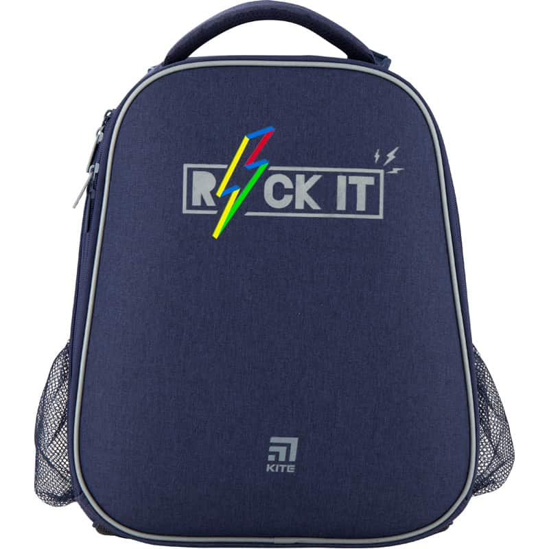 Ghiozdan pt scoala ortopedic  cu carcasa Kite Education Rock it K20-531M-2