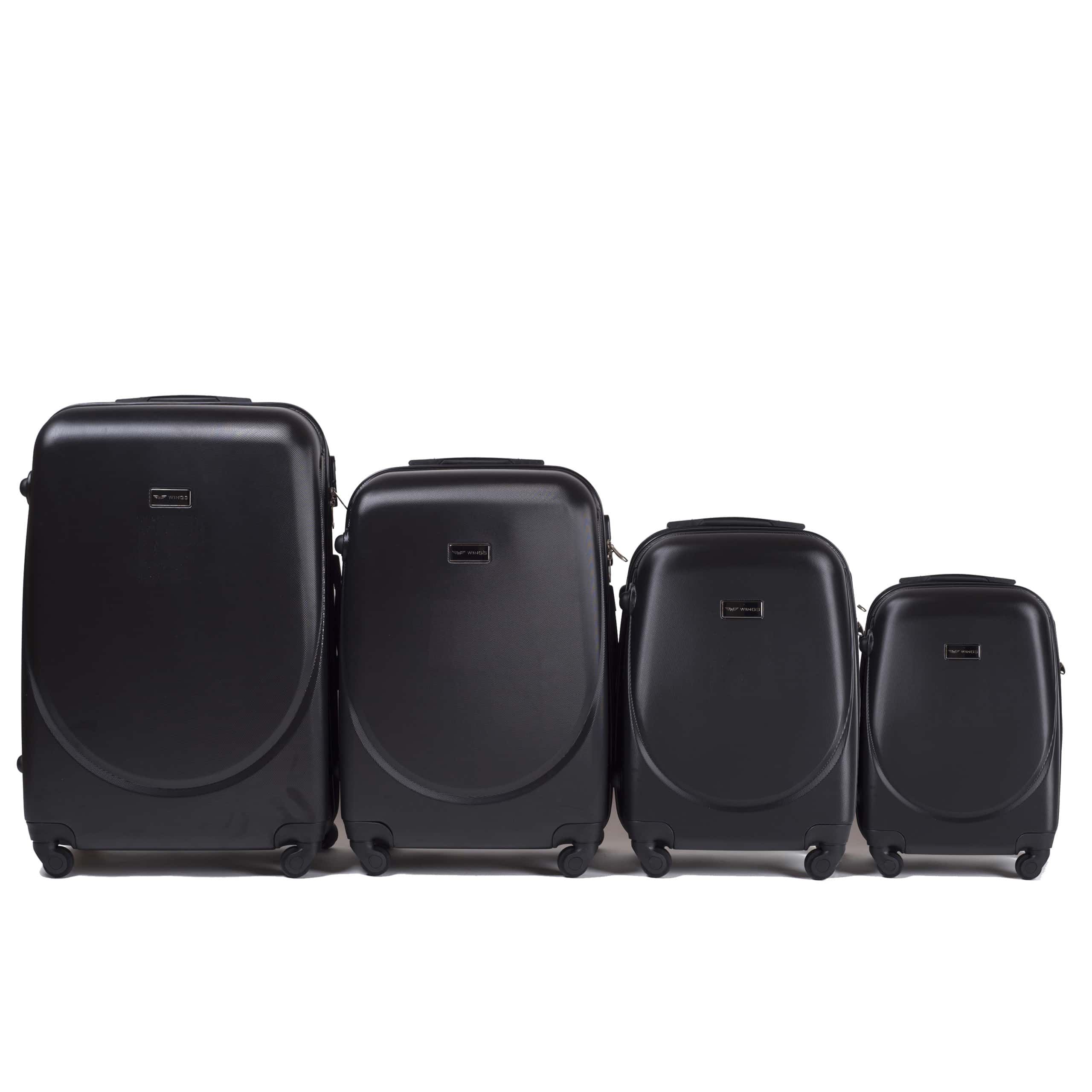 Set de valize din ABS Policarbonat pe 4 roti! Rezistente si usoare! SET WINGS K310  BLACK