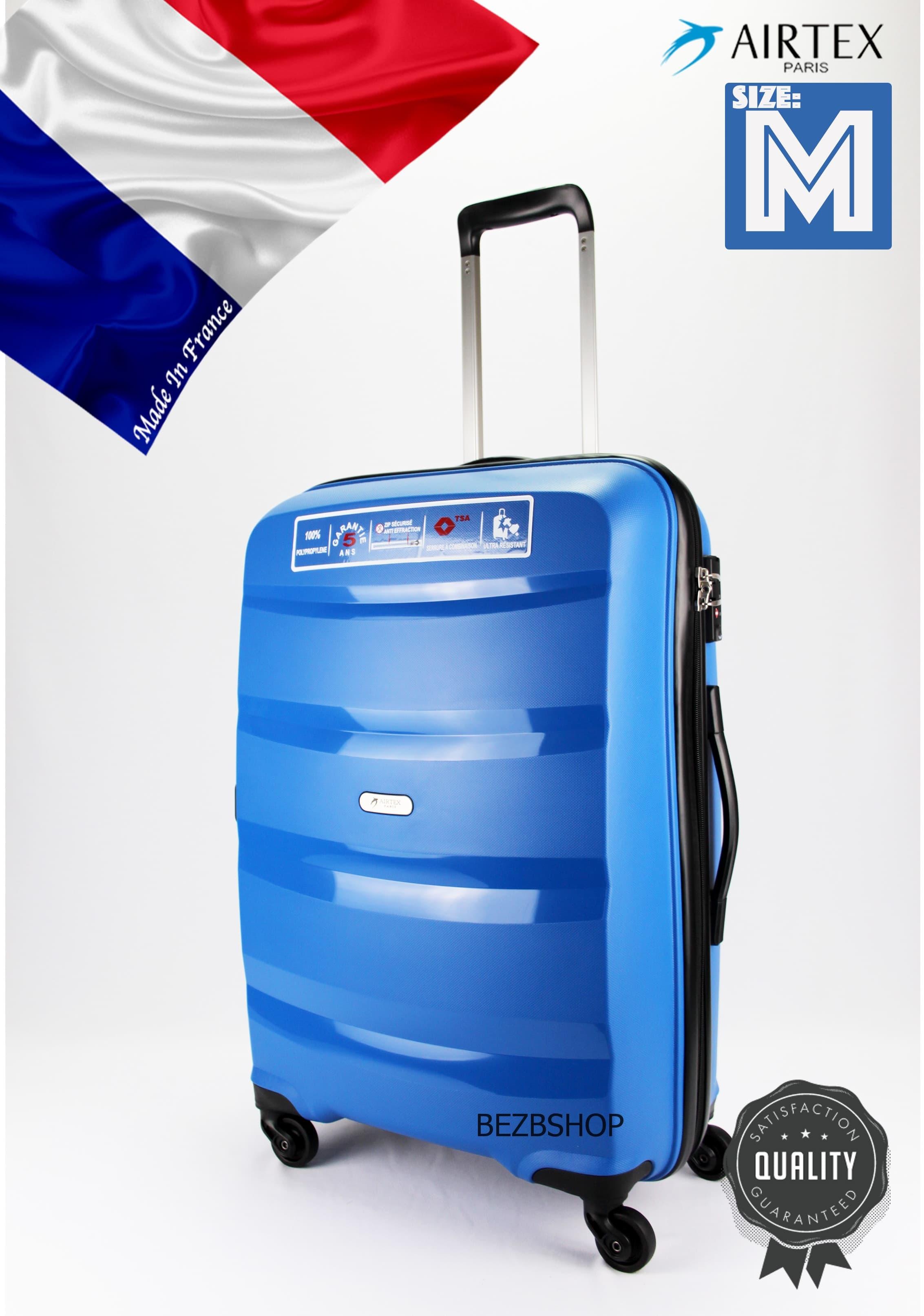 Французский ударостойкий чемодан Средний из полипропилена на 4 колесах Для багажа ,до 18 кг