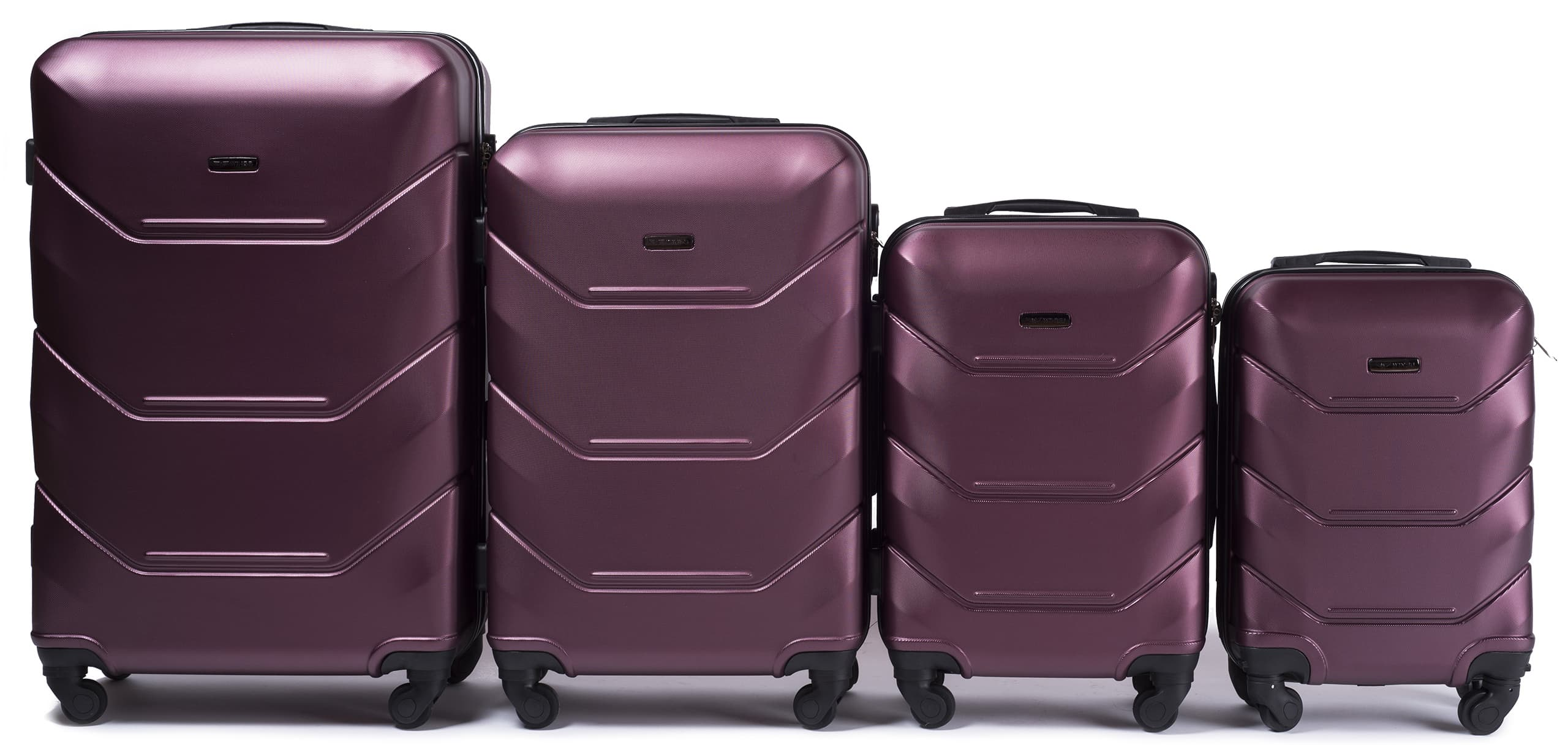 Set de valize din ABS Policarbonat pe 4 roti! Rezistente si usoare! 147 SET BURGUNDY