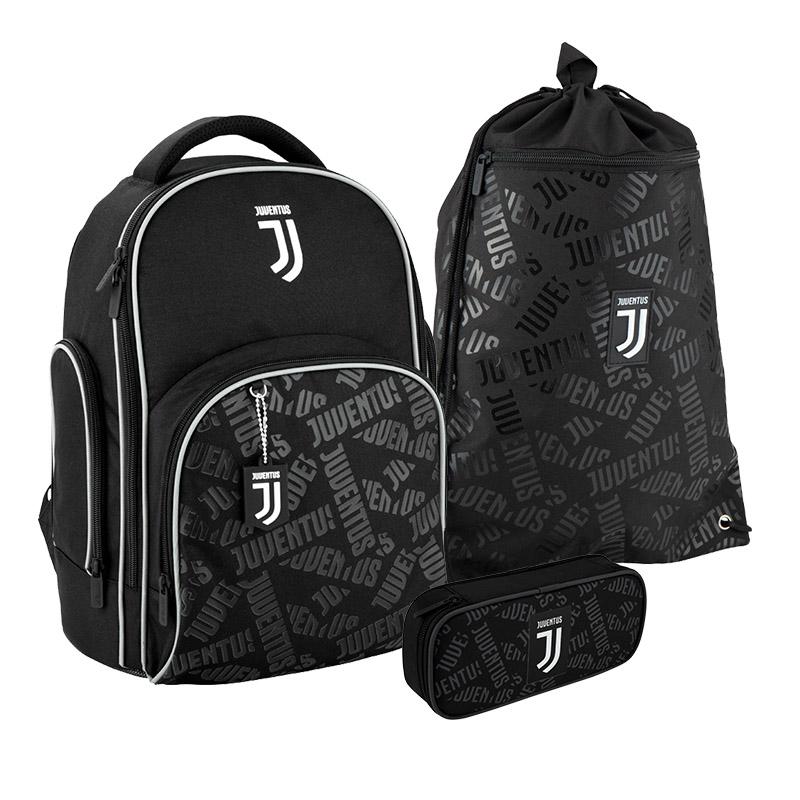 Школьный набор Kite FC Juventus рюкзак пенал сумка SET_JV20-706M