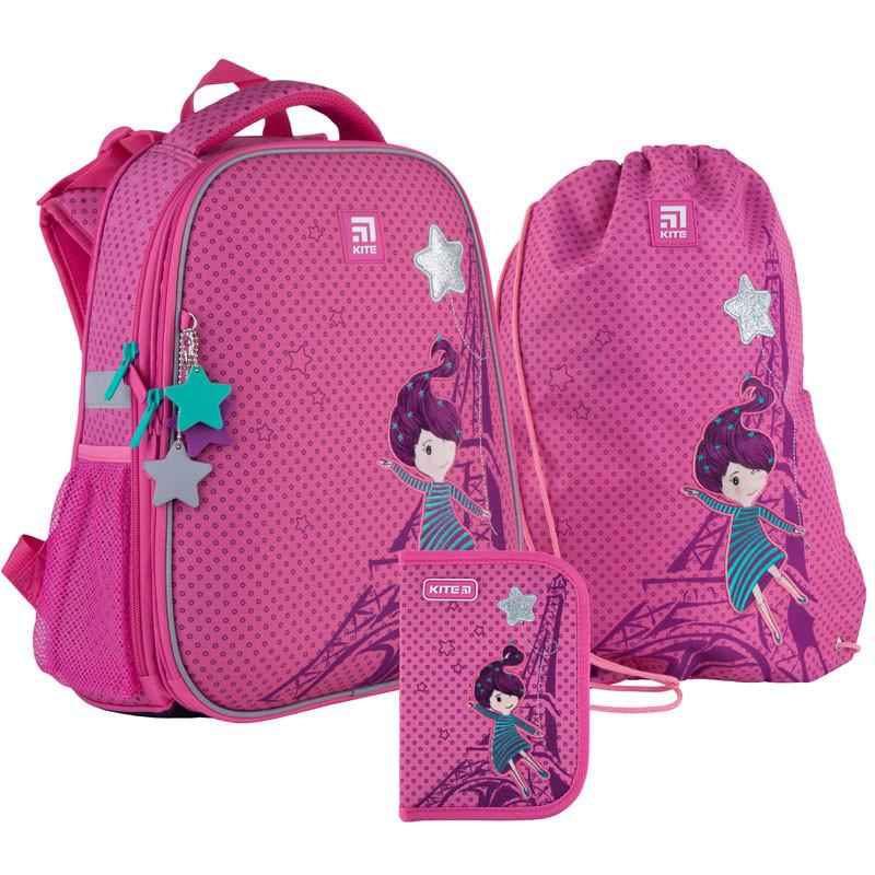Школьный набор Kite.Ортопедический рюкзак пенал сумка SET_K21-531M-5