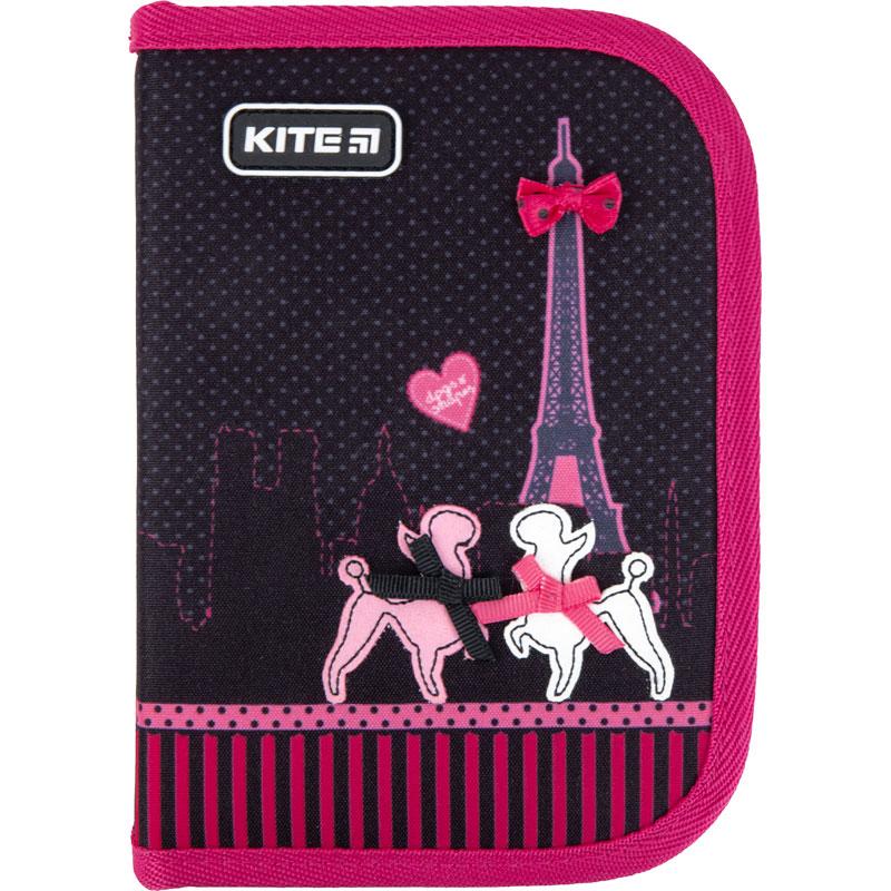 Пенал без наполнения Kite Education Weekend In Paris K21-622-1, 1 отделение, 2 отворота