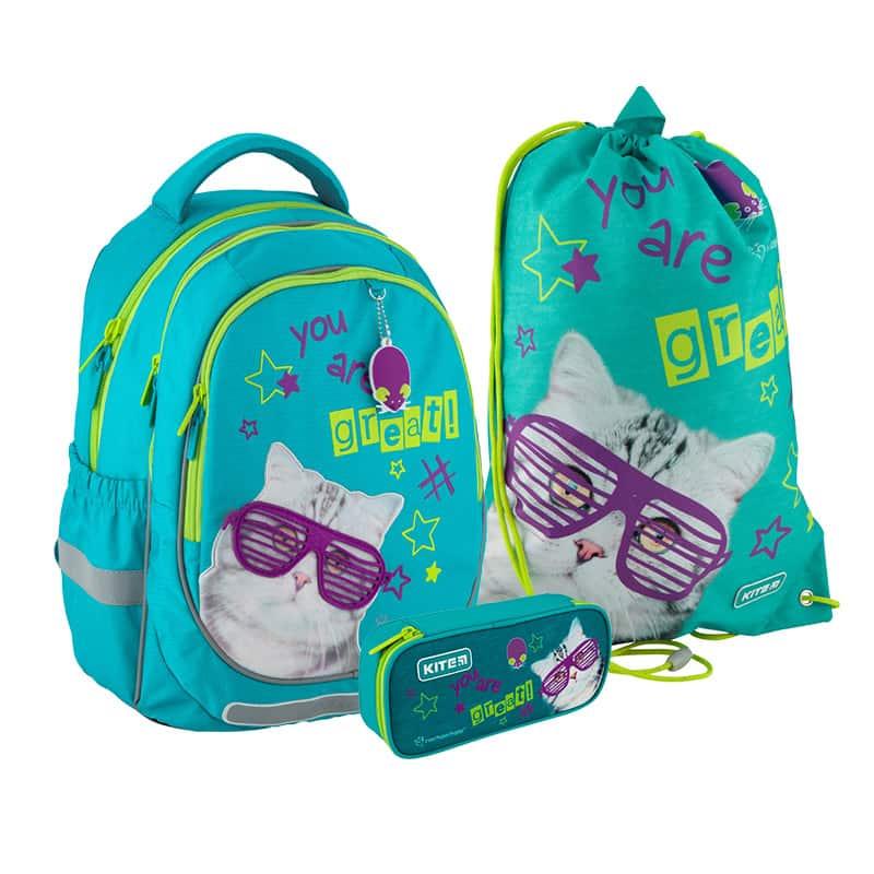 Школьный набор Kite.Ортопедический рюкзак пенал сумка SET_R20-700M