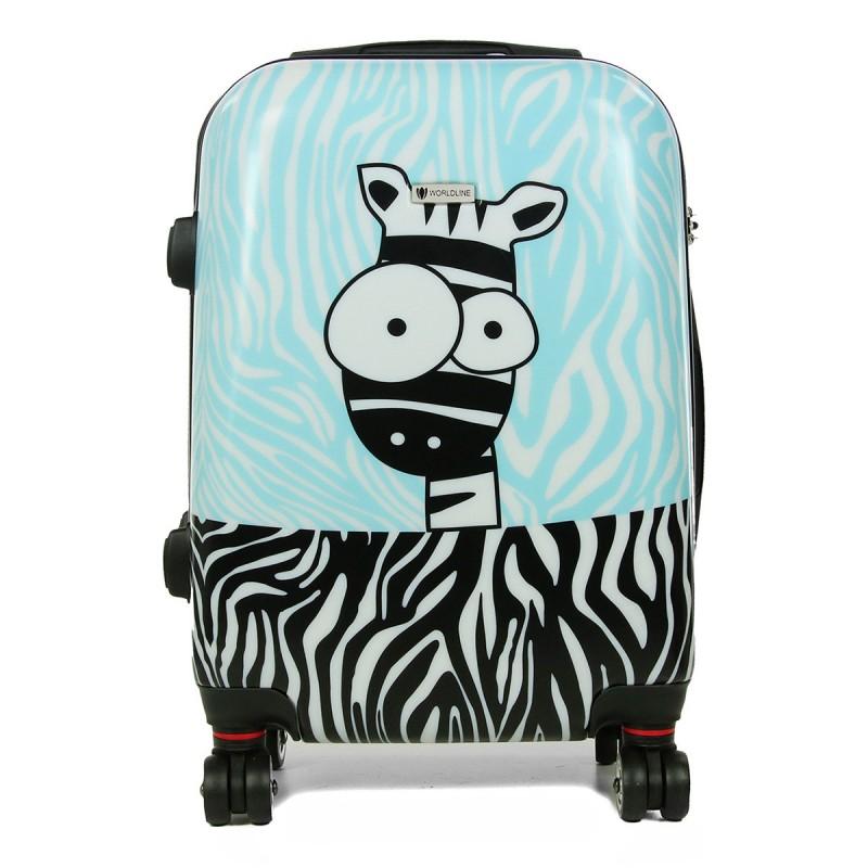 Французский ударостойкий  Средний чемодан из Поликарбоната AIRTEX 809 M ZEBRA! Для багажа на 23 кг!