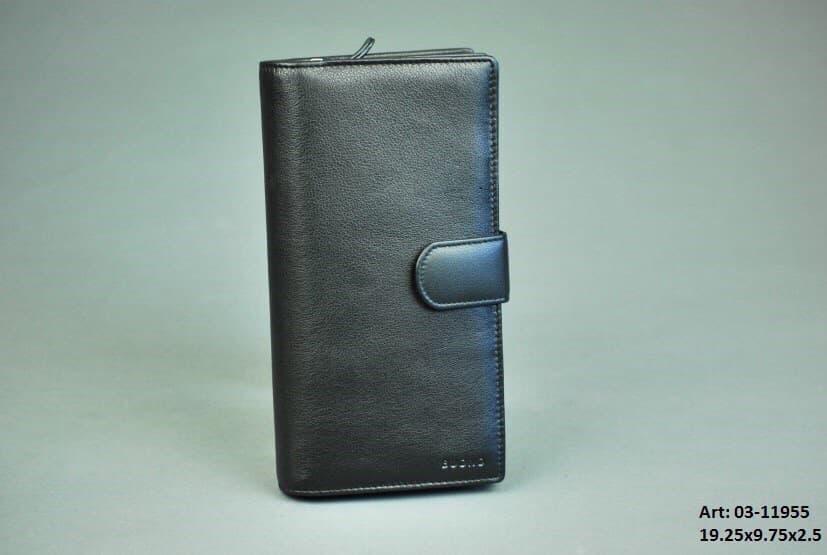 Мужской кожаный портмоне-клатч Buono 03-11955 Black